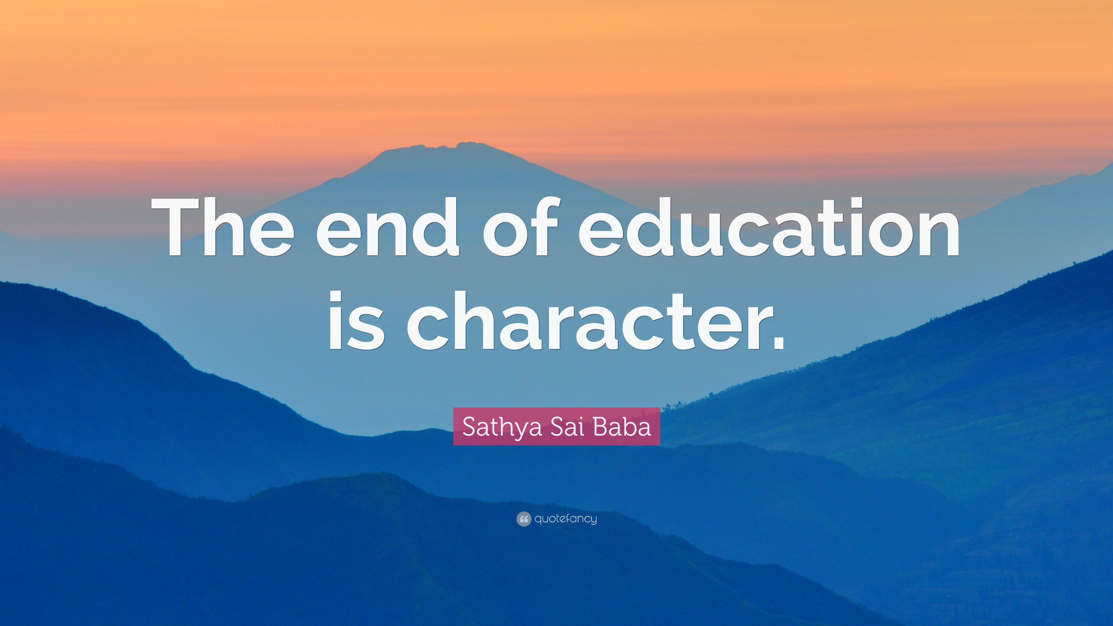 End of education is character essay