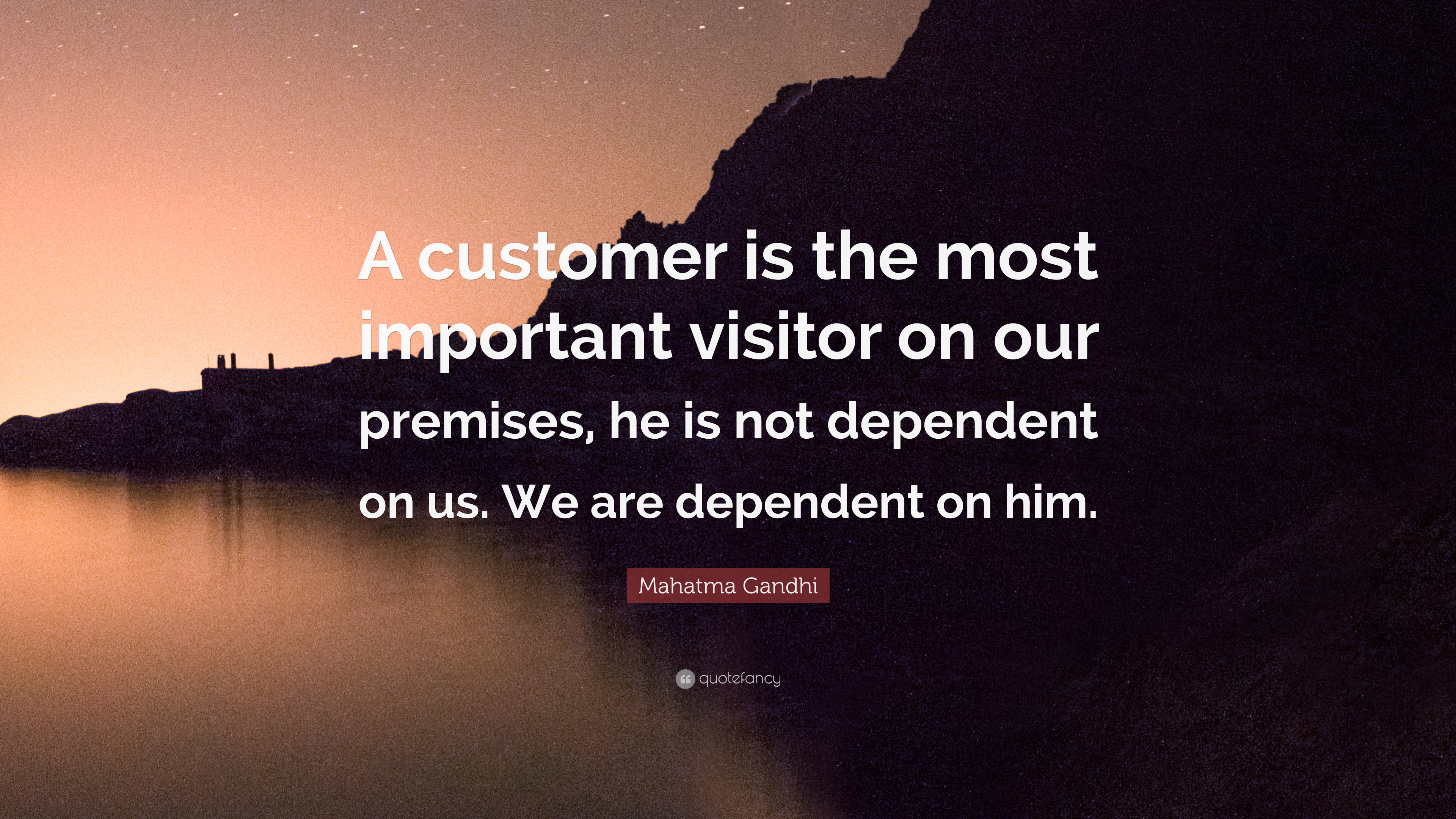 "Important Quotes: Mahatma Gandhi Quote: ""A Customer Is The Most Important"