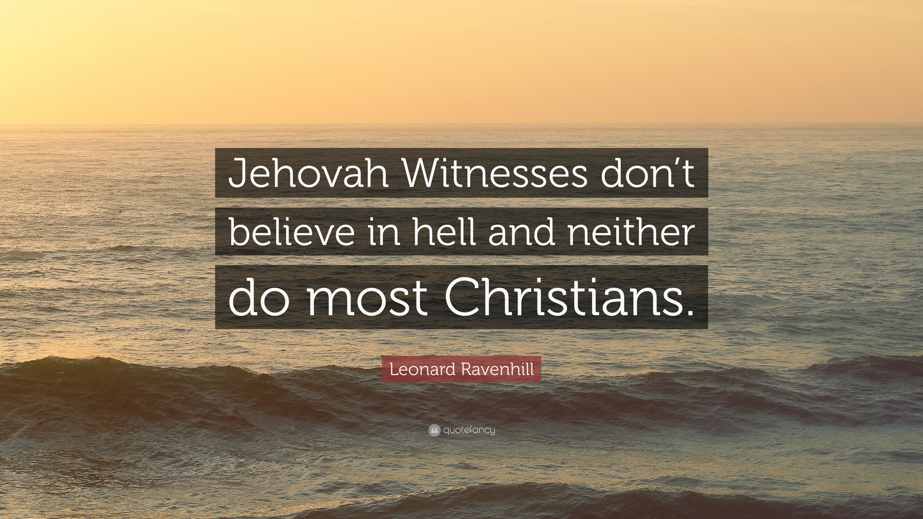 what do jehovah witnesses believe about hell