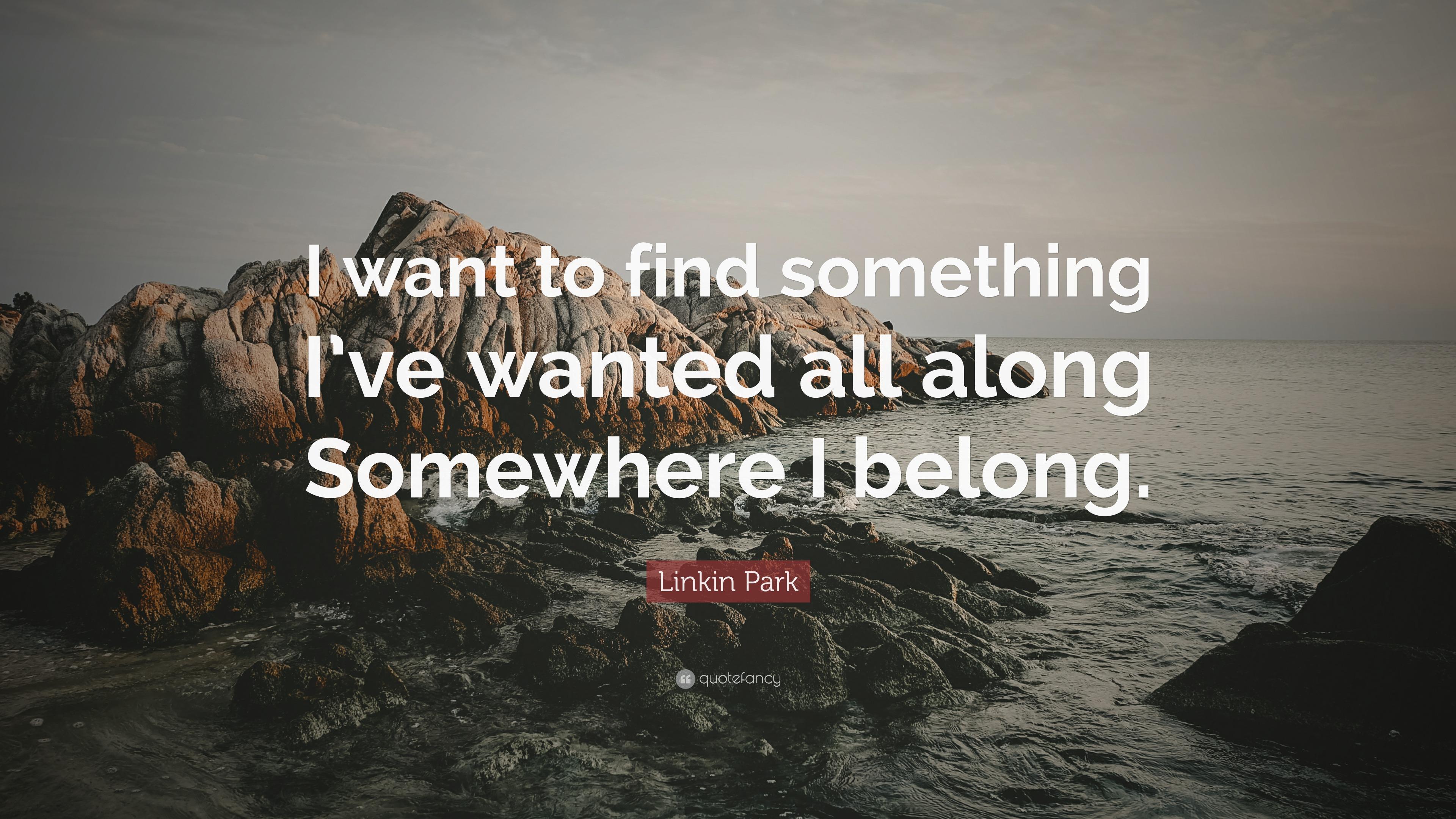 Somewhere We All Belong