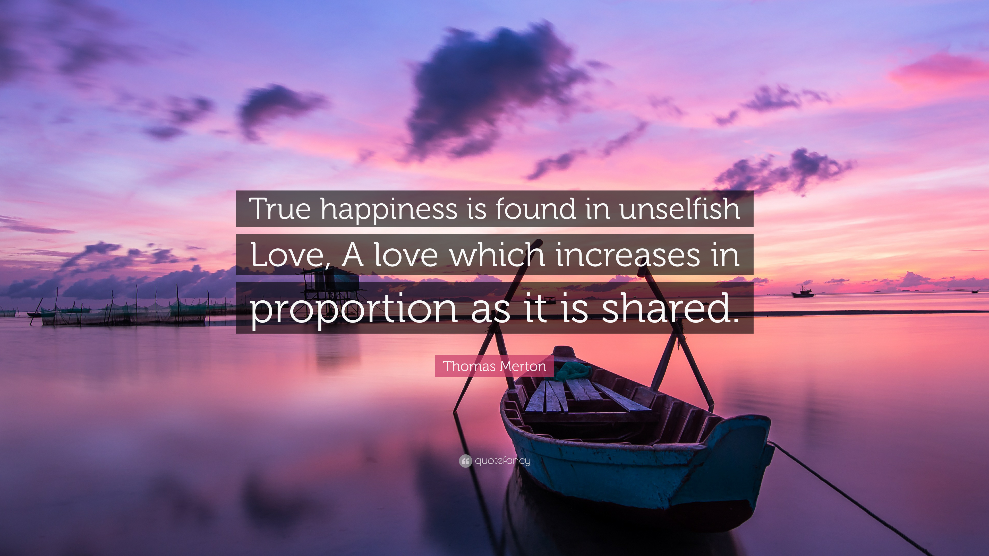 """Thomas Merton Quote: """"True happiness is found in unselfish ..."""