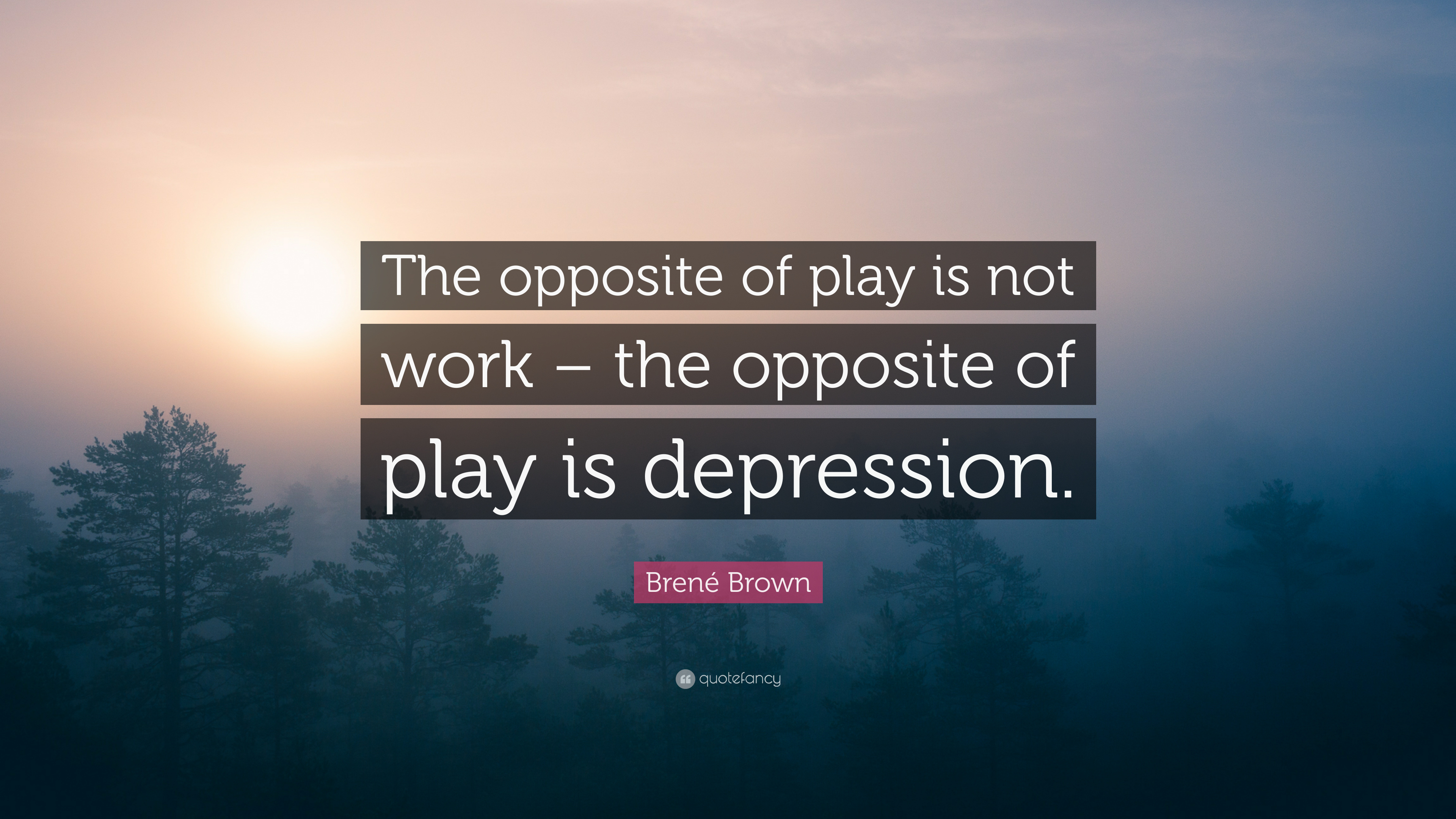 bren brown quote the opposite of play is not work the opposite of play is depression 12. Black Bedroom Furniture Sets. Home Design Ideas