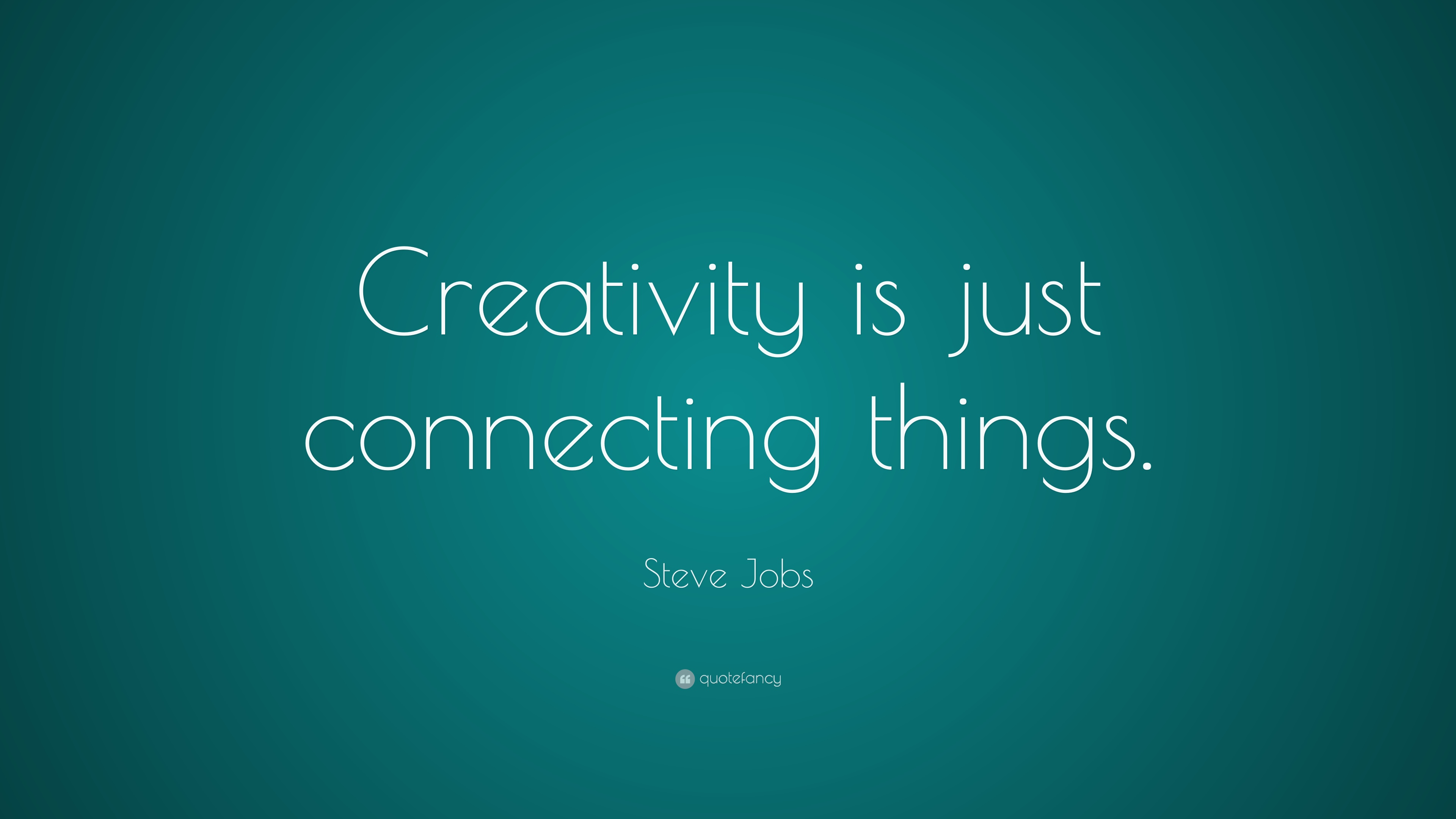 Steve Jobs Creativity Is Just Connecting Things