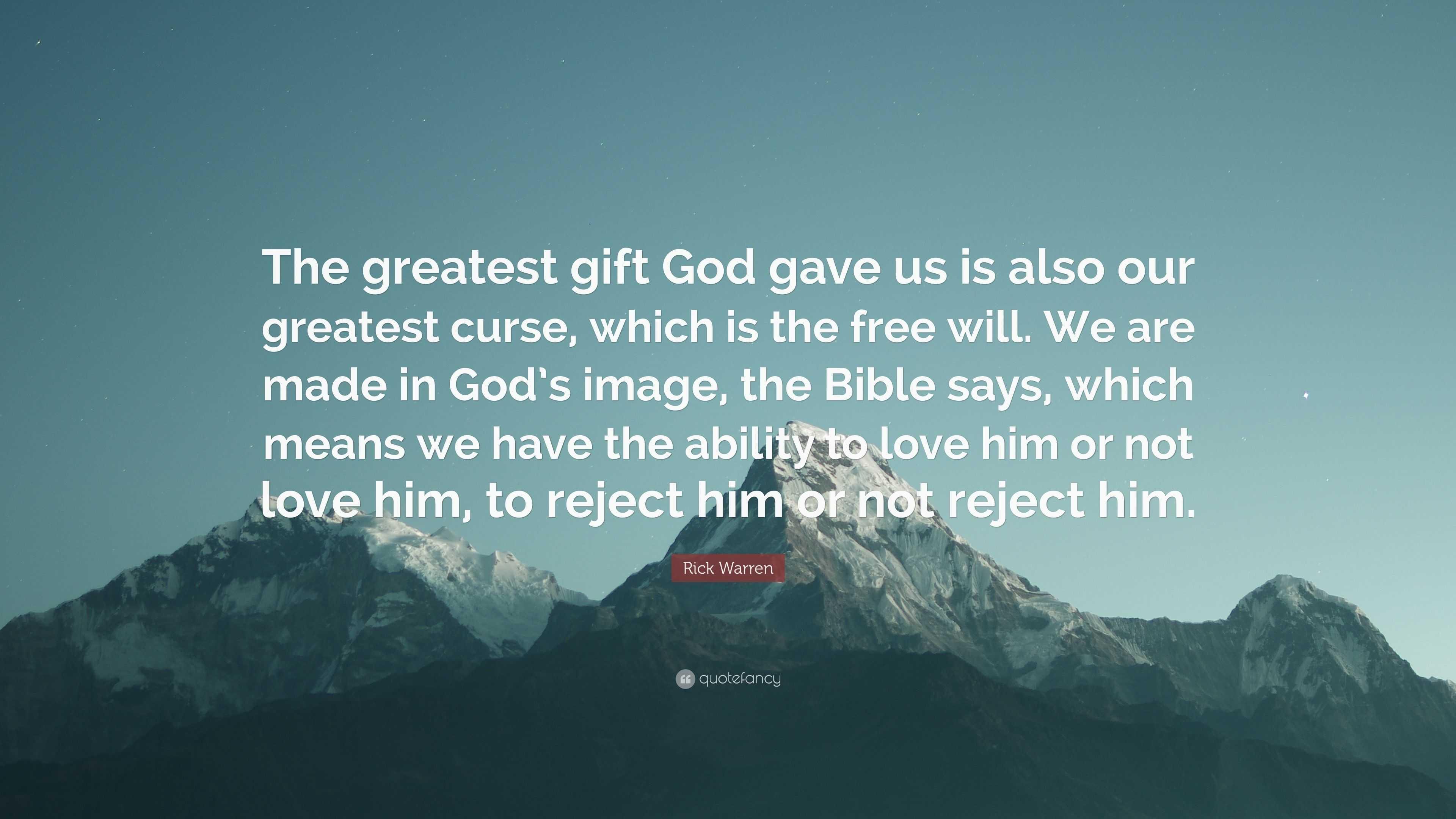 Gods Greatest Gift