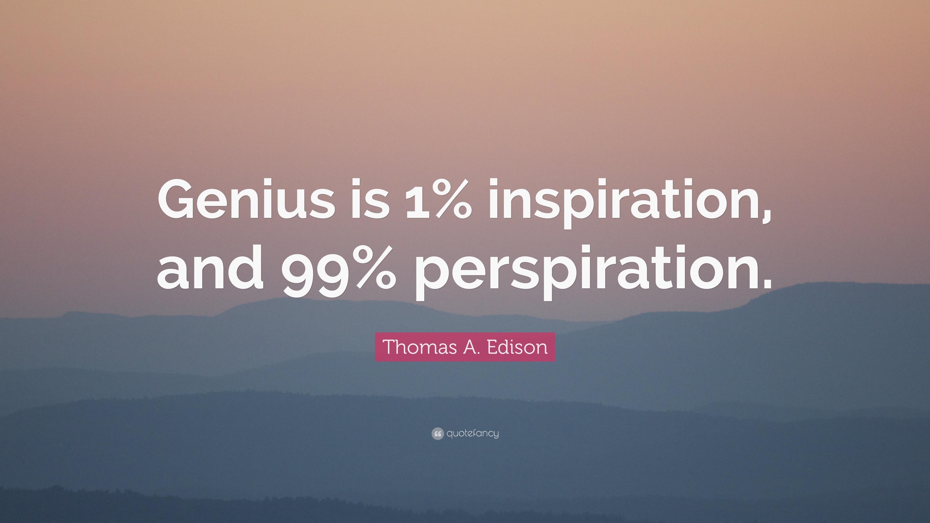 Thomas edison inspiration essay