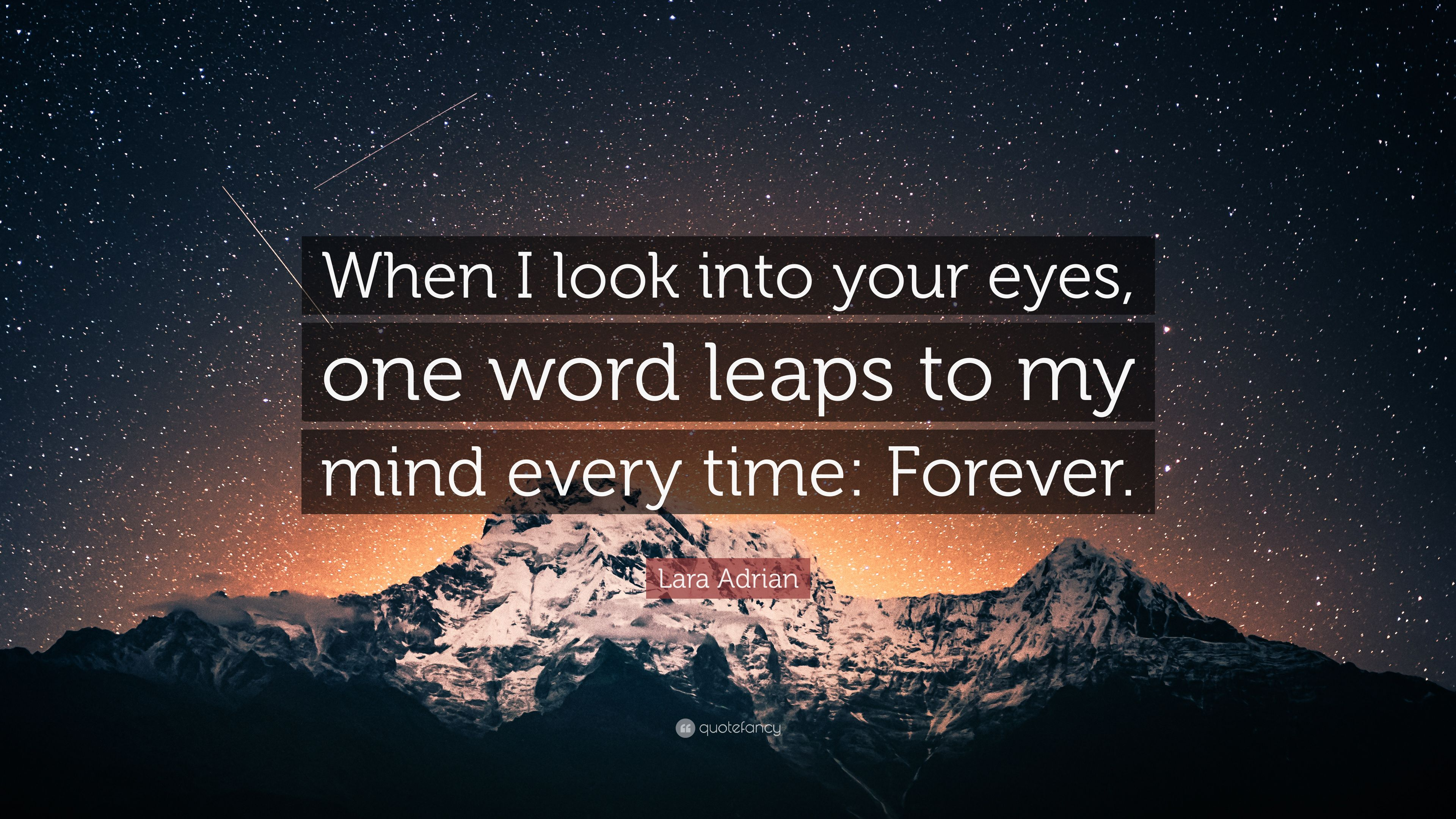 "Lara Adrian Quote: ""When I Look Into Your Eyes, One Word"