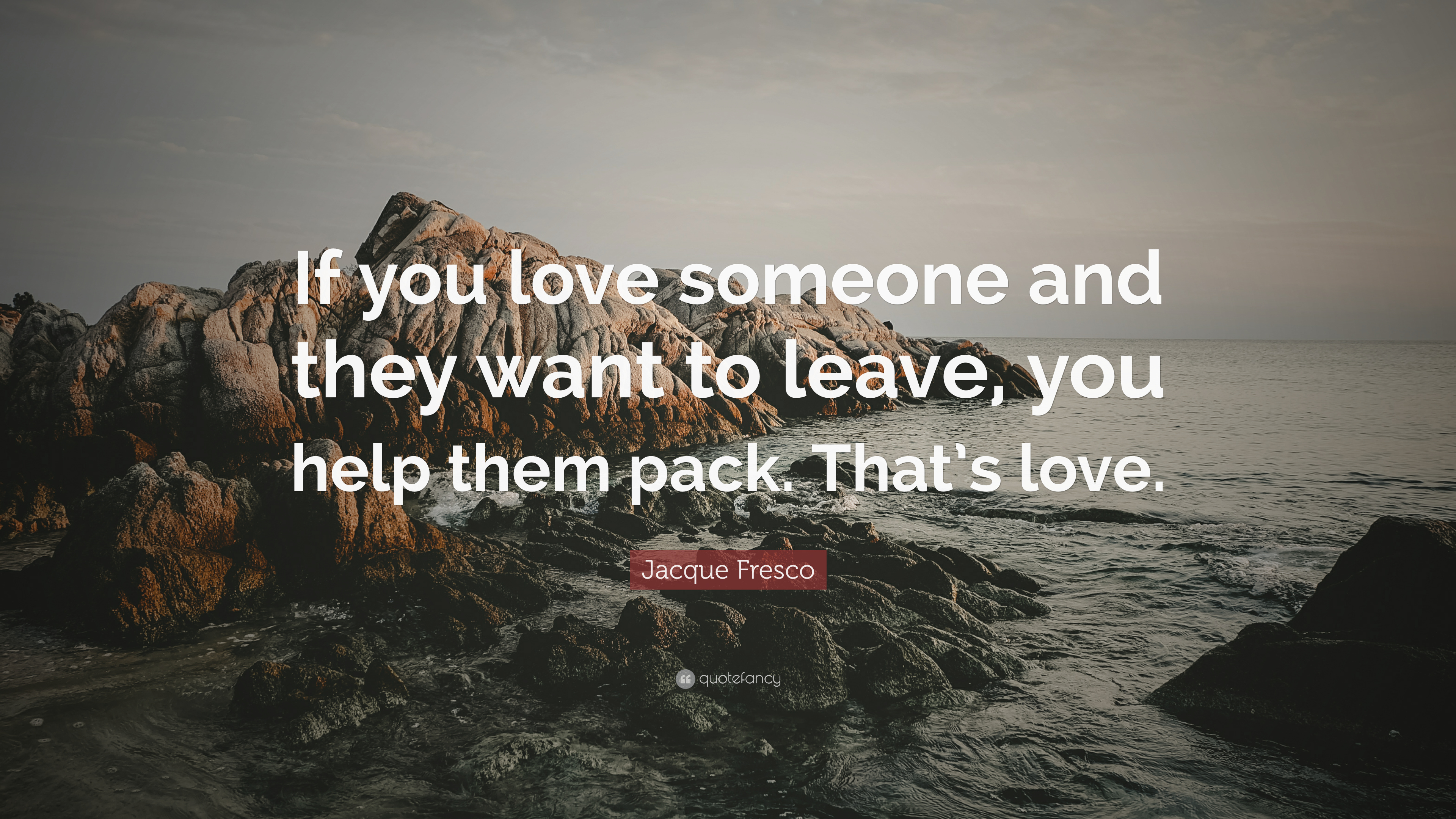 "Jacque Fresco Quote: ""If You Love Someone And They Want To"