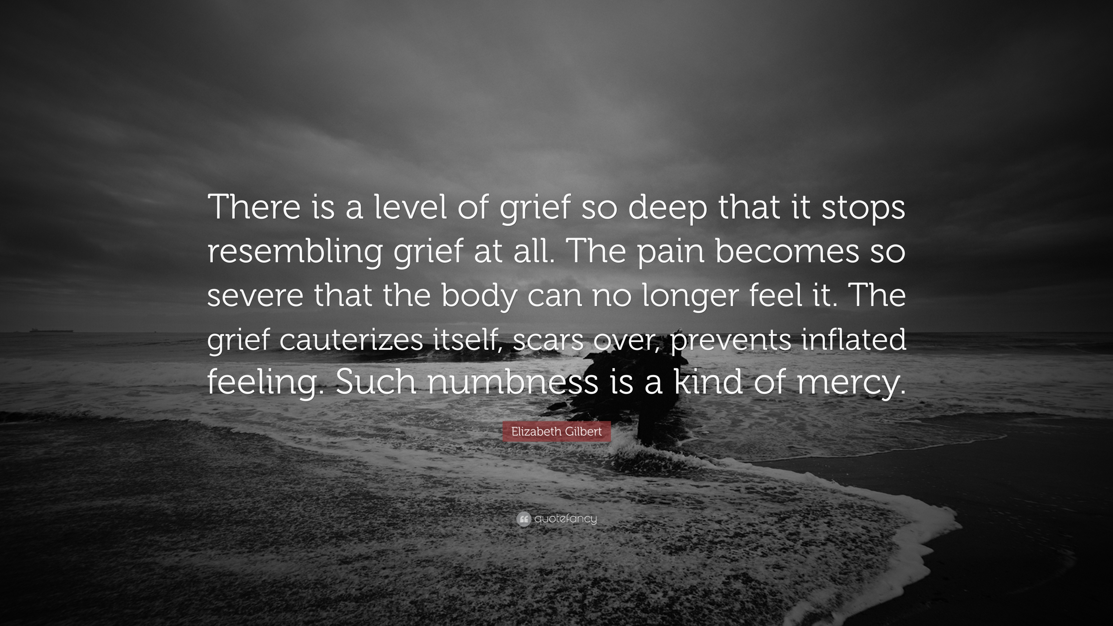 """Deep Quotes: Elizabeth Gilbert Quote: """"There Is A Level Of Grief So"""