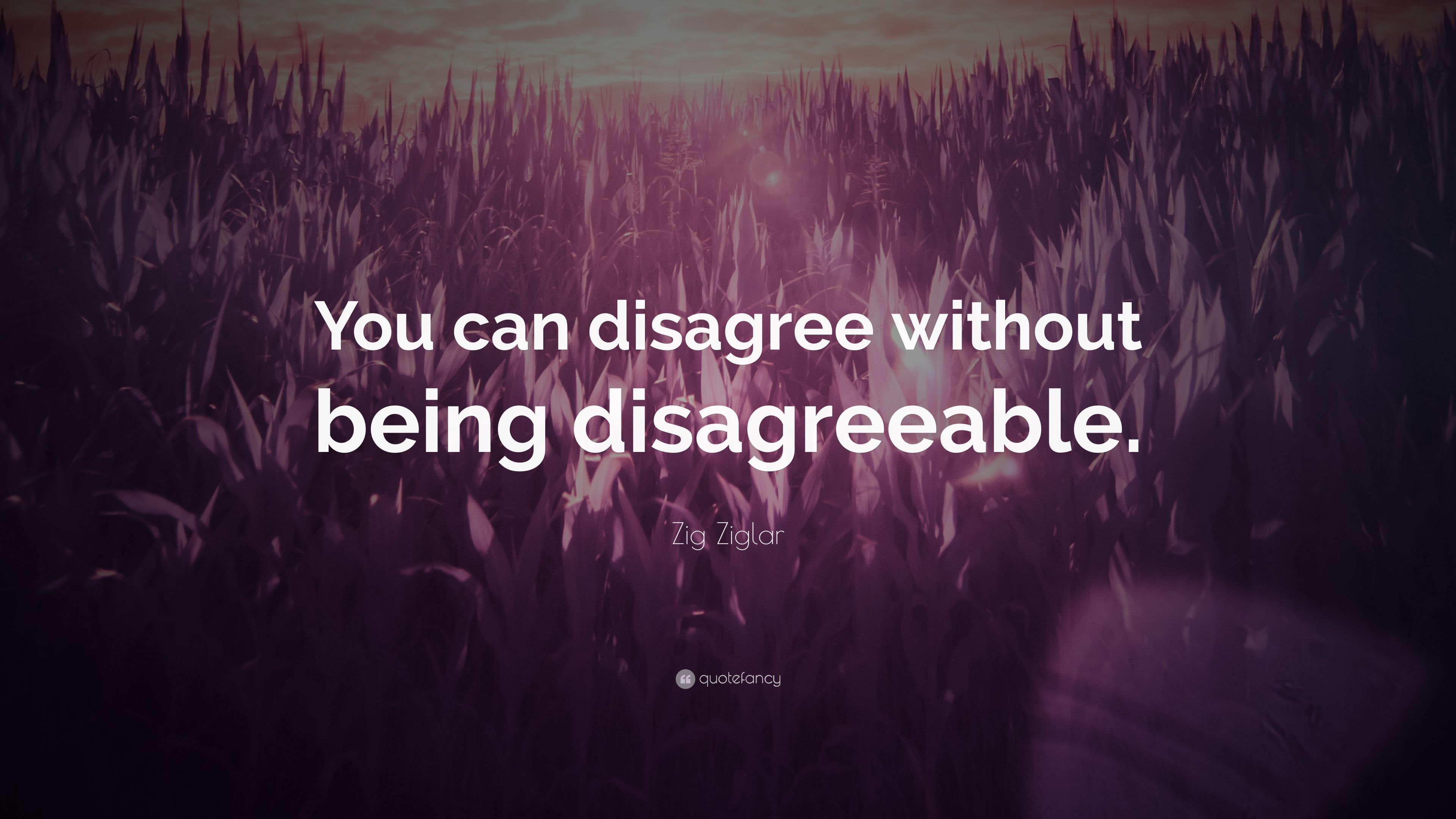 """Zig Ziglar Quote: """"You can disagree without being ..."""