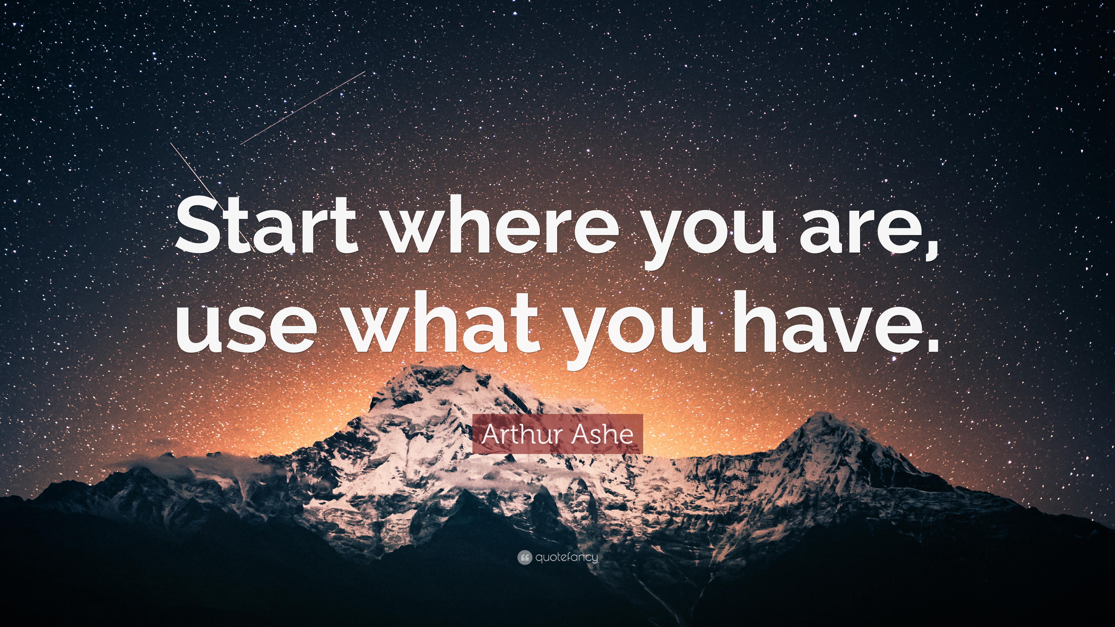 Arthur Ashe Quote Start Where You Are Use What You Have 12