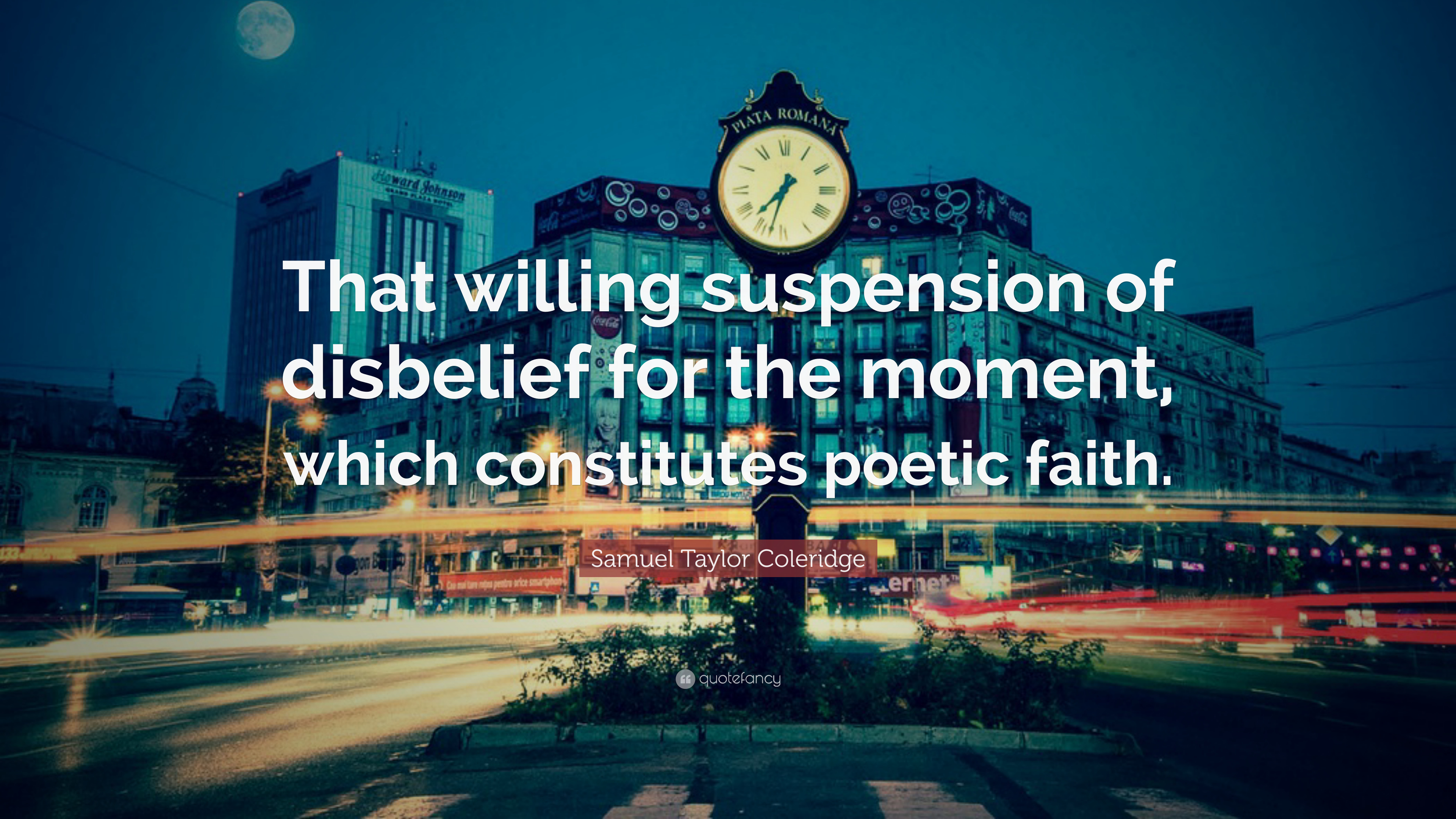 willing suspension in disbelief in coleridge's