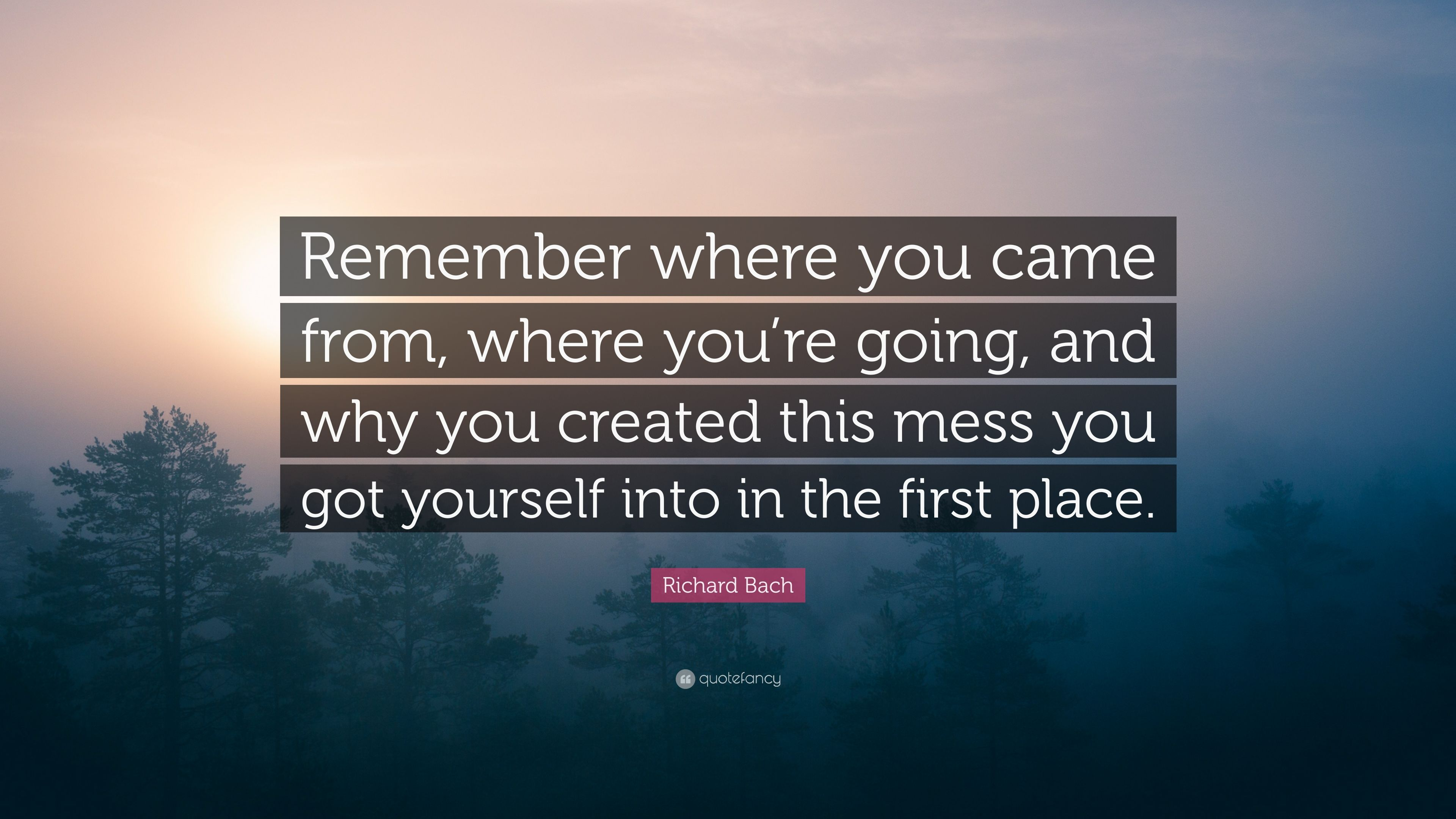 Richard Bach Quote Remember Where You Came From Where Youre