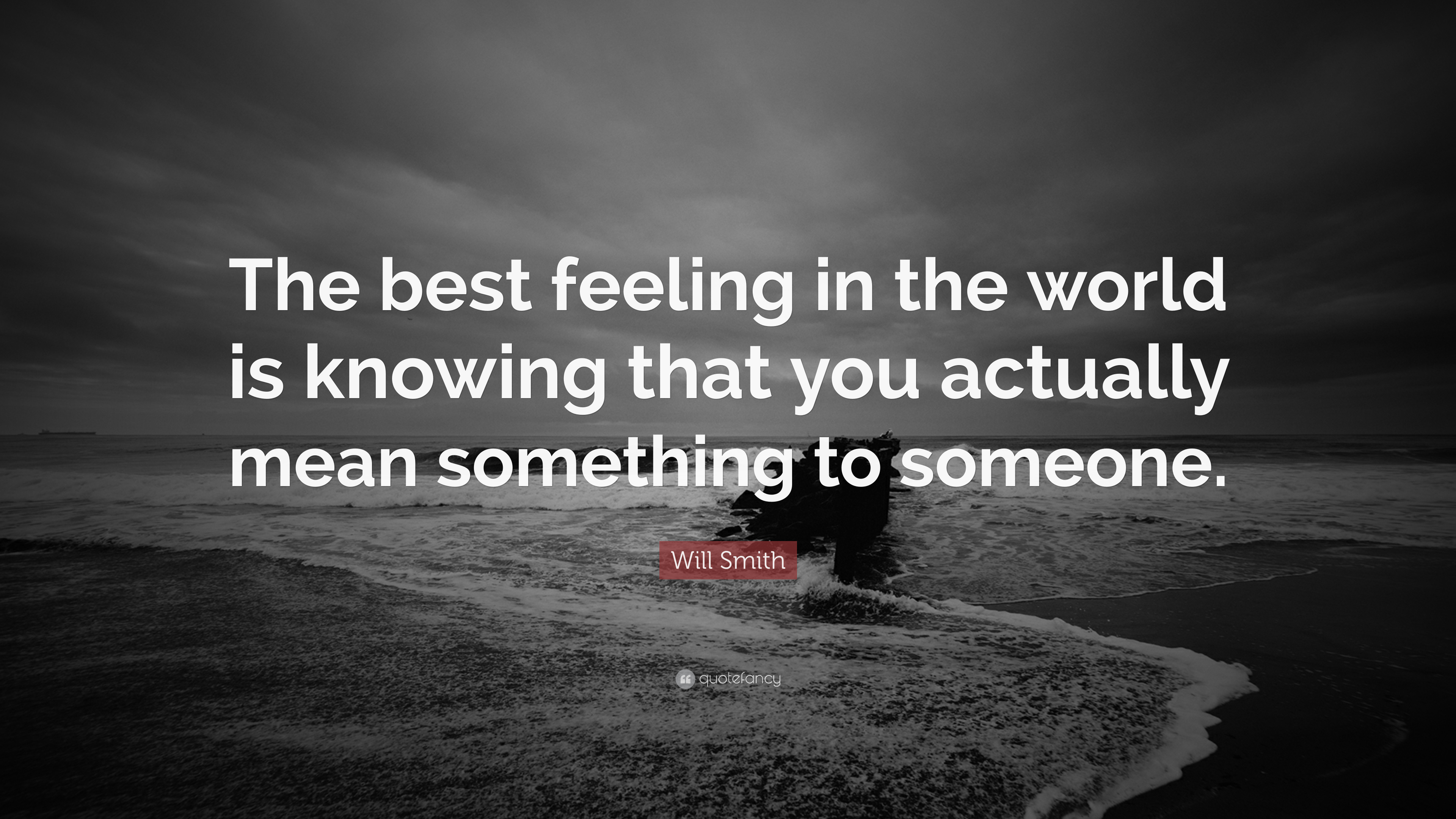 Will Smith Quote The Best Feeling In The World Is Knowing That You Actually Mean Something To Someone 12 Wallpapers Quotefancy