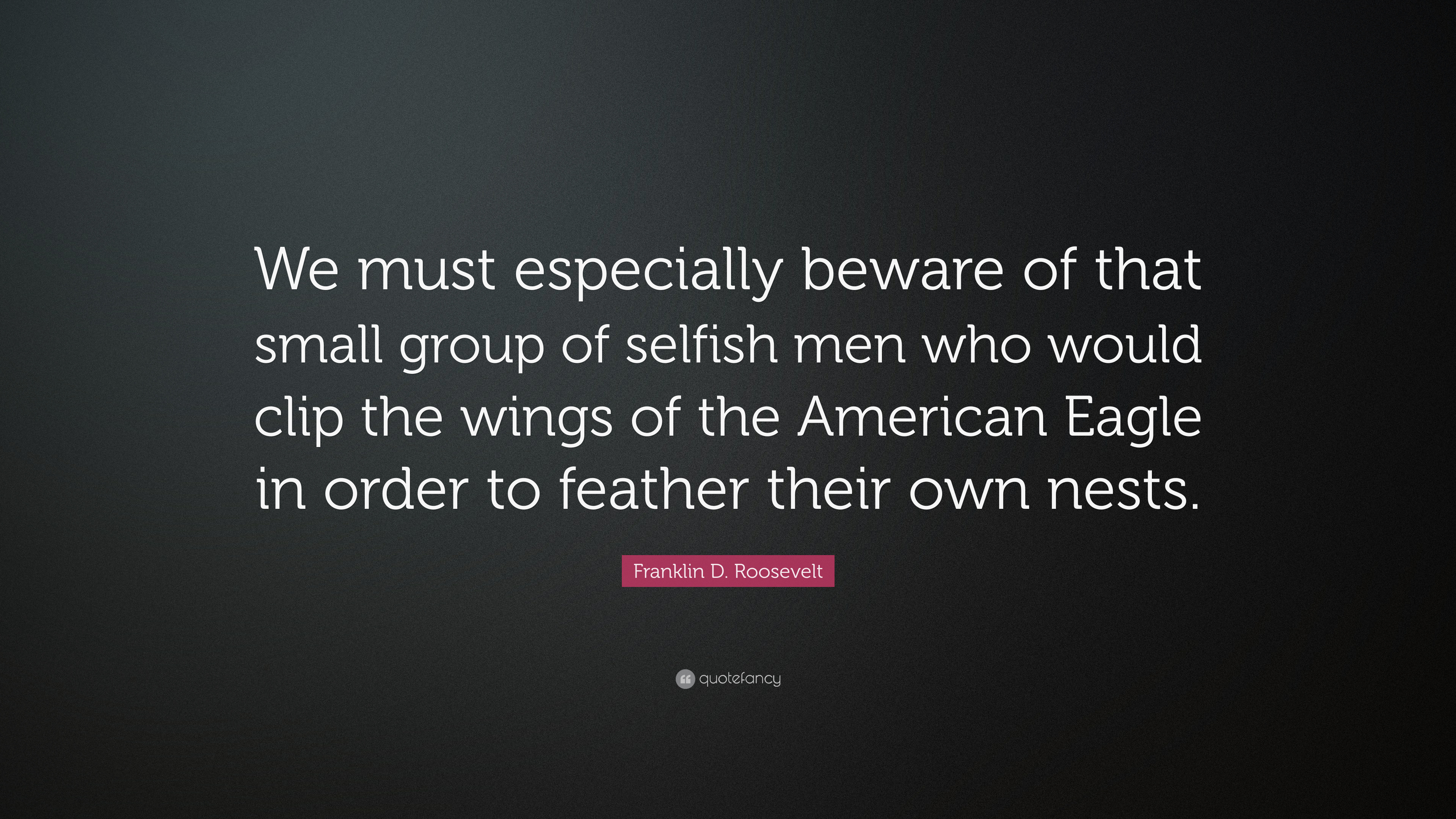 """Franklin D Roosevelt Quotes Franklin Droosevelt Quote """"We Must Especially Beware Of That"""