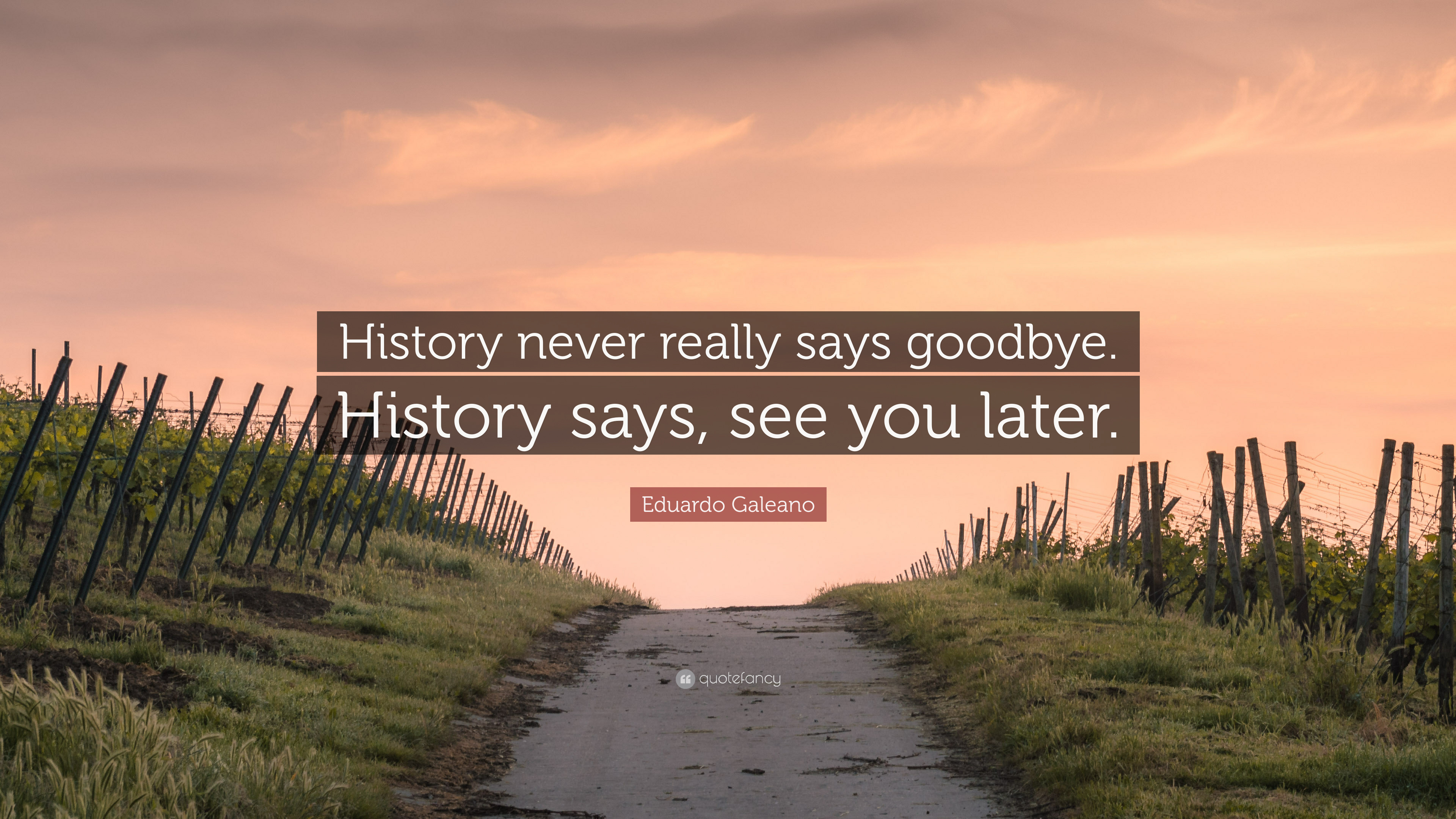 Eduardo Galeano Quote History Never Really Says Goodbye History Says See You Later 9 Wallpapers Quotefancy