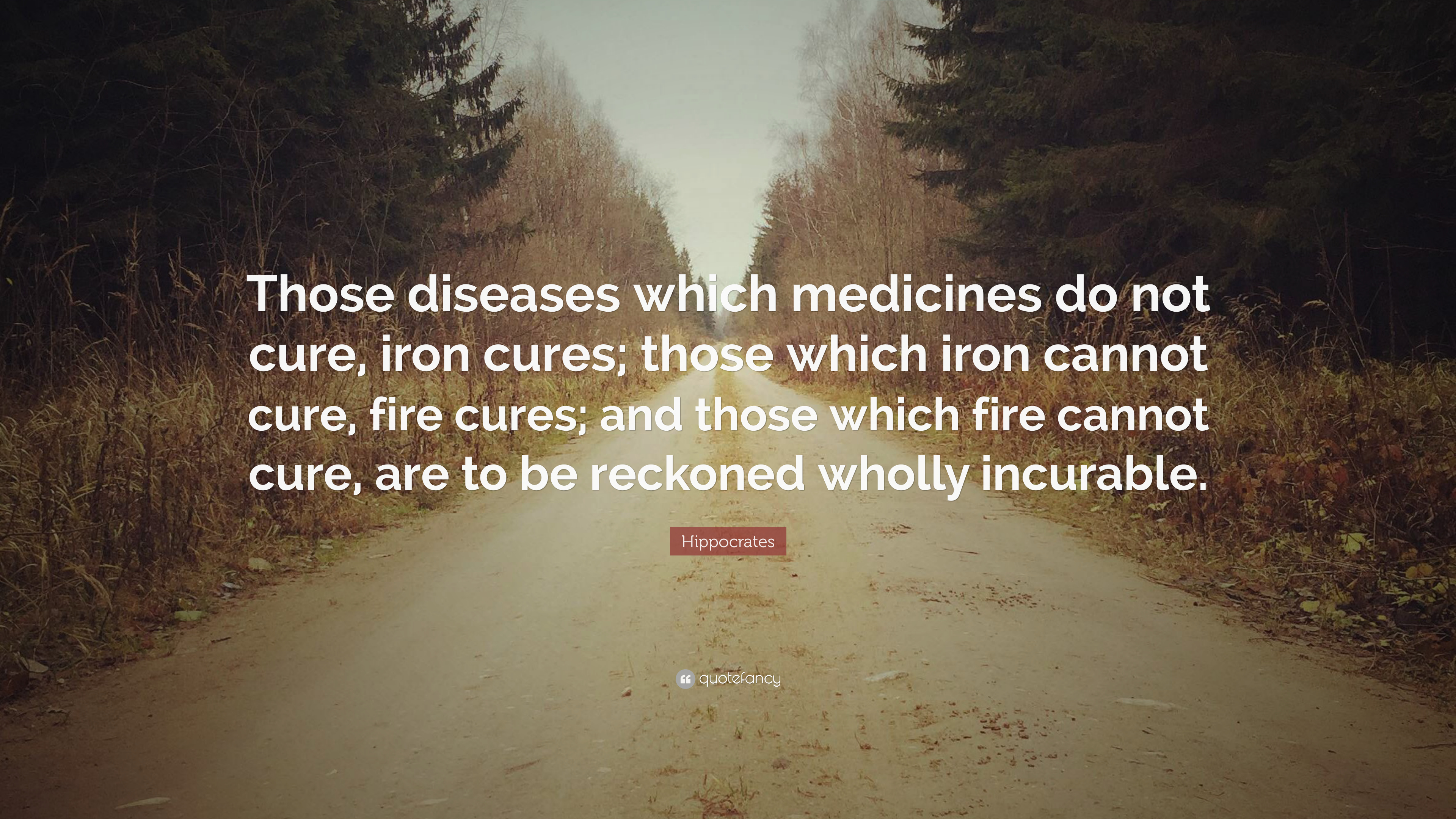 """Hippocrates Quote: """"Those diseases which medicines do not"""