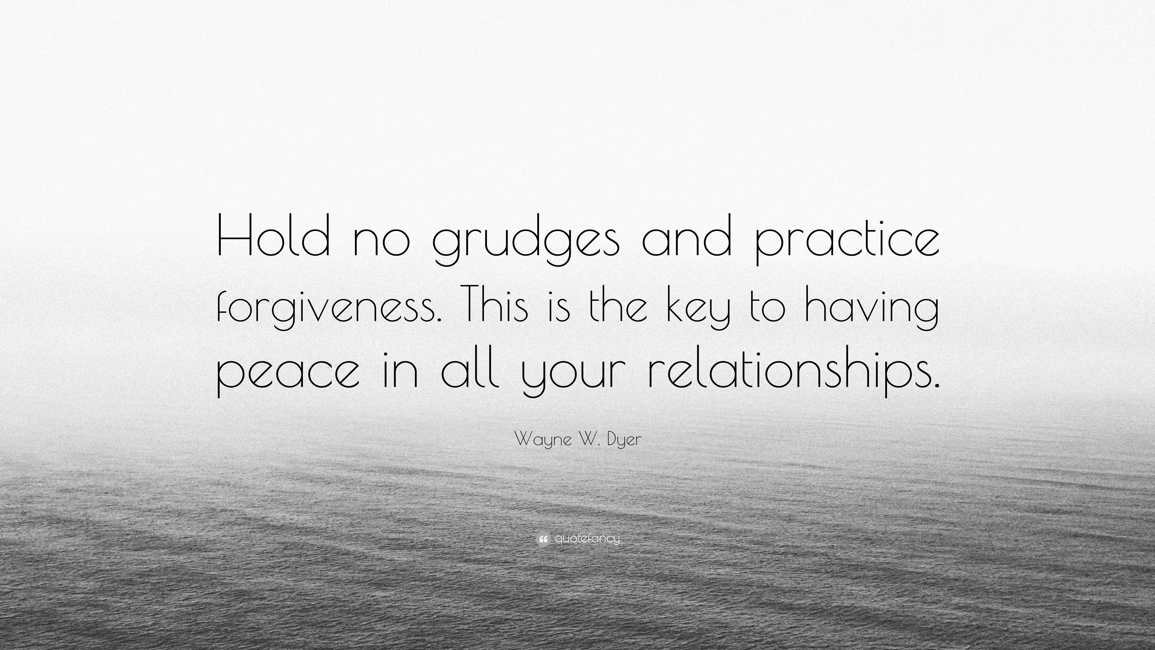 Holding grudges in relationships