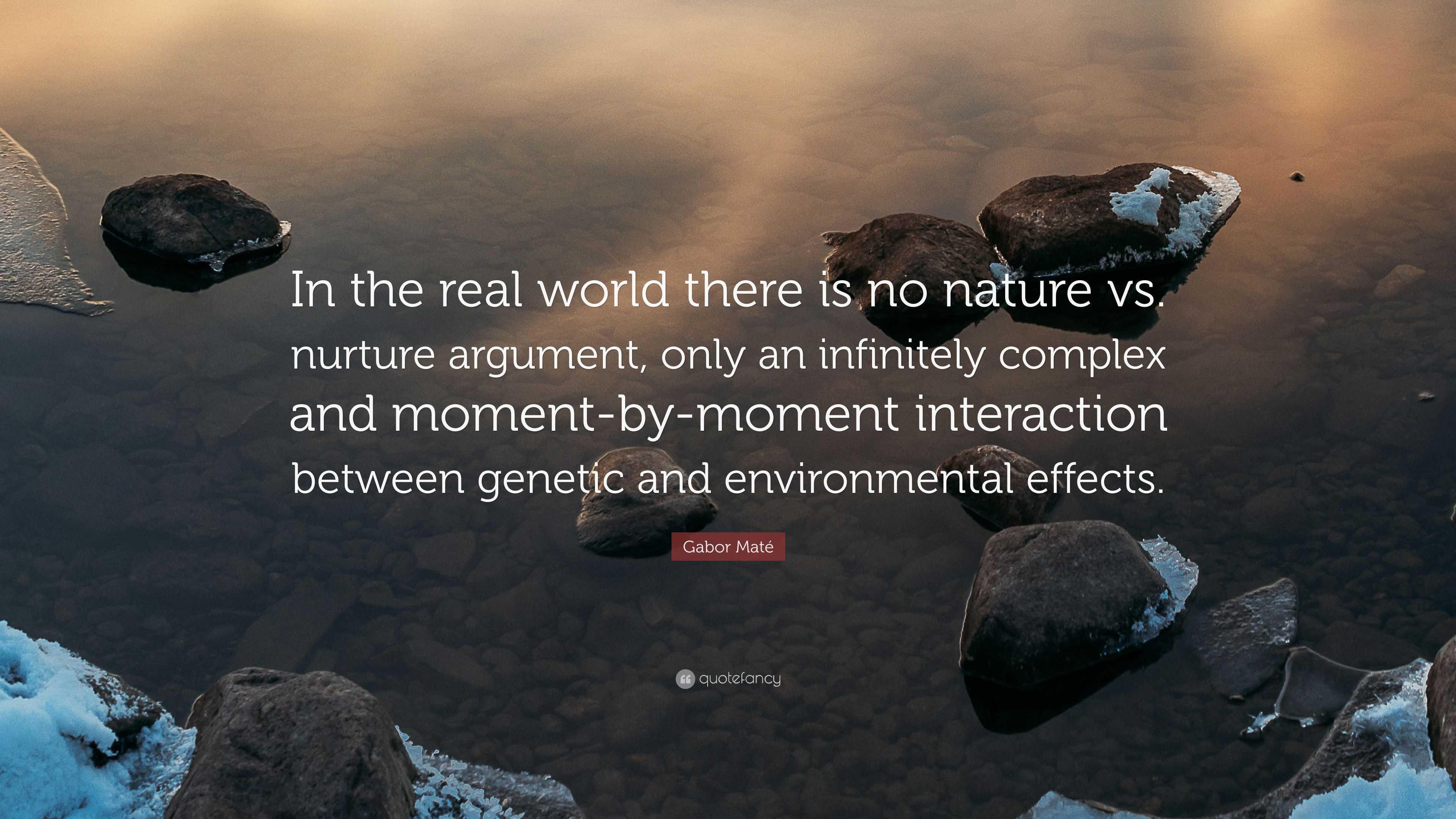 Nature Vs Nurture Argument Points