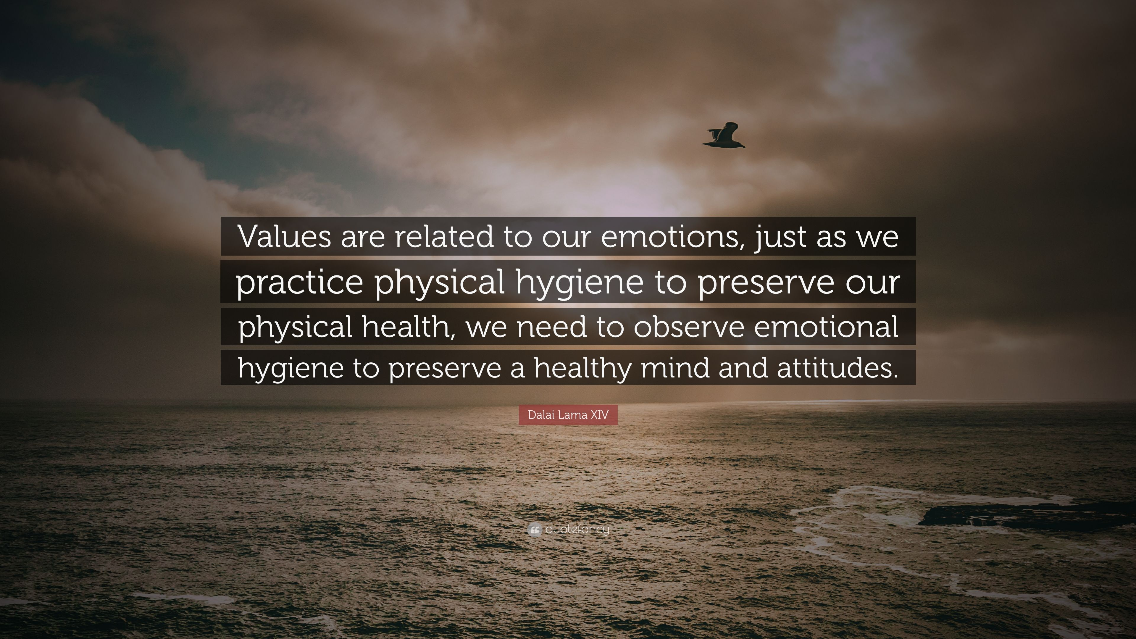 "Dalai Lama XIV Quote: ""Values are related to our emotions ..."