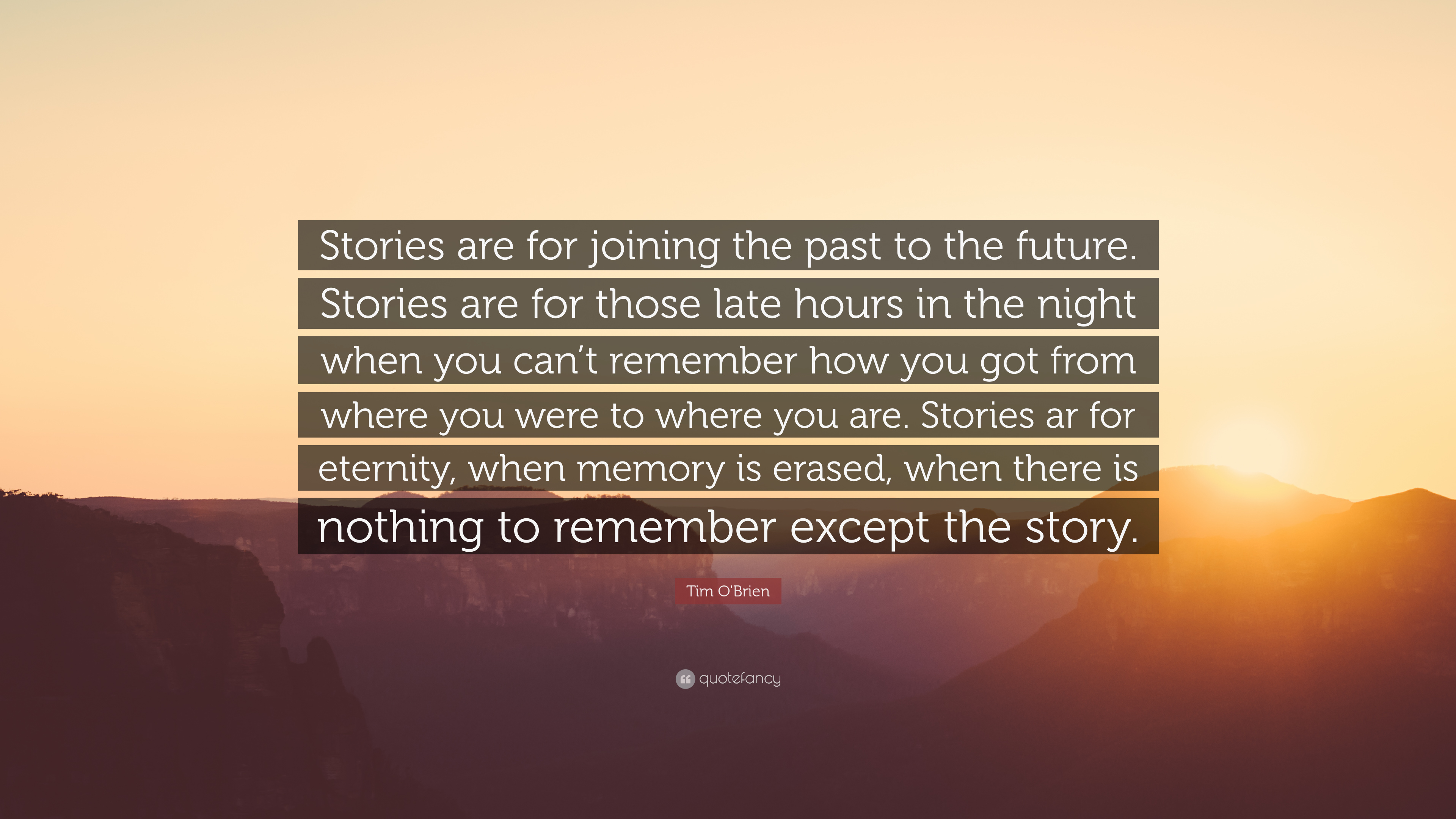 power of stories tim obrien With vietnam and beyond: tim o'brien and the power of storytelling, stefania ciocia has published the first scholarly monograph devoted solely to tim o'brien to.