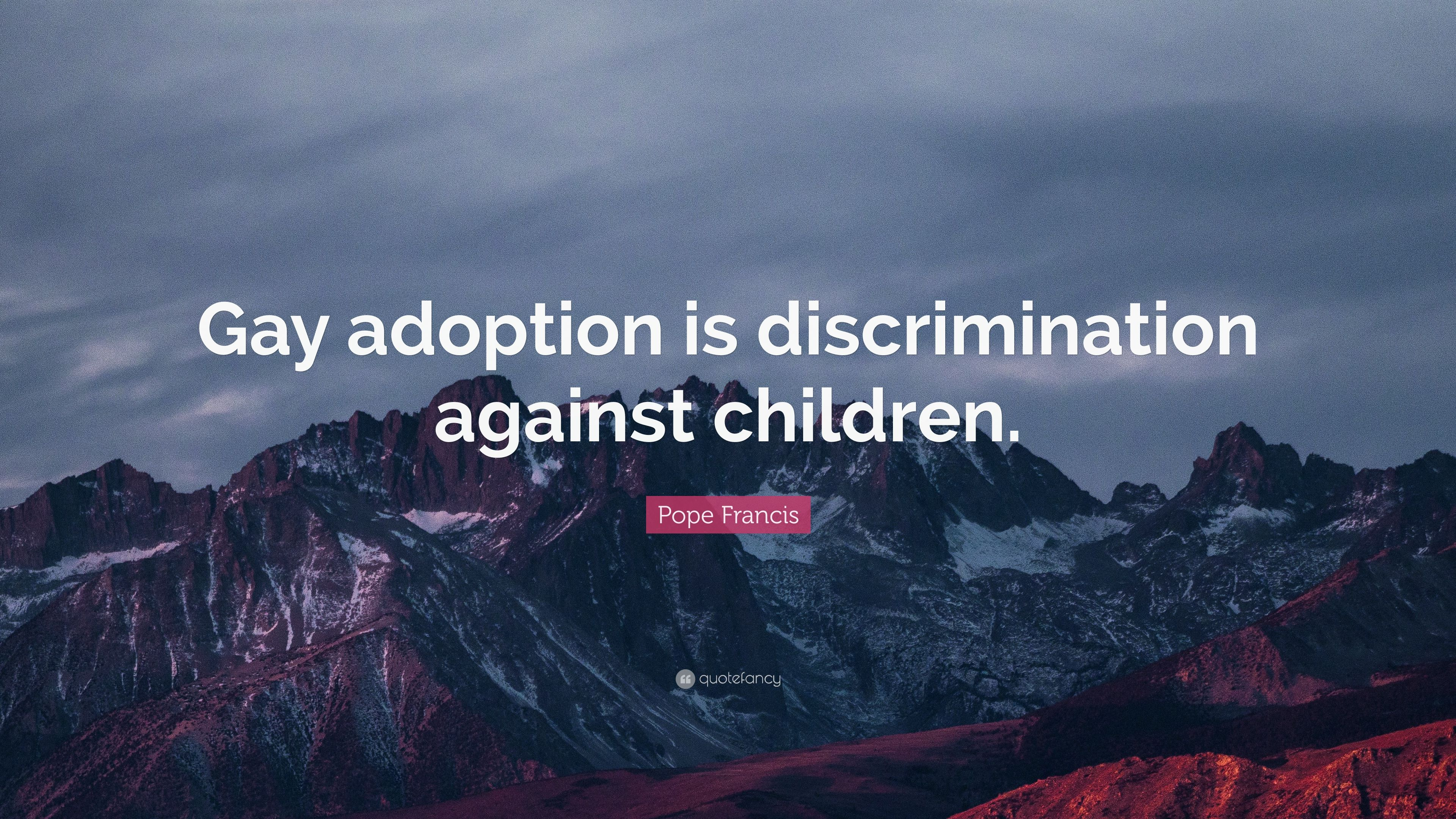 adoption Issues against gay