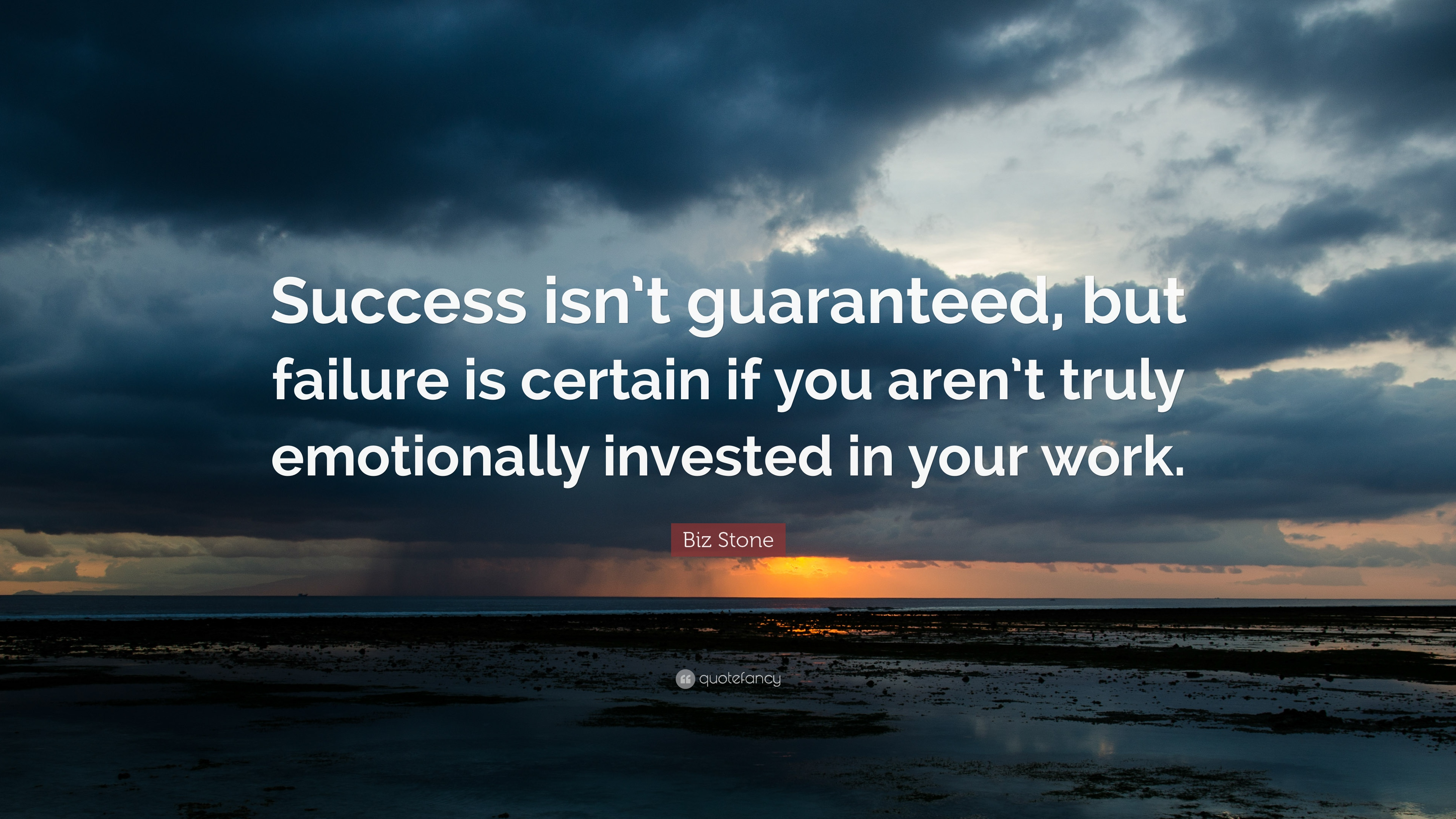 Biz Stone Quote: U201cSuccess Isnu0027t Guaranteed, But Failure Is Certain If