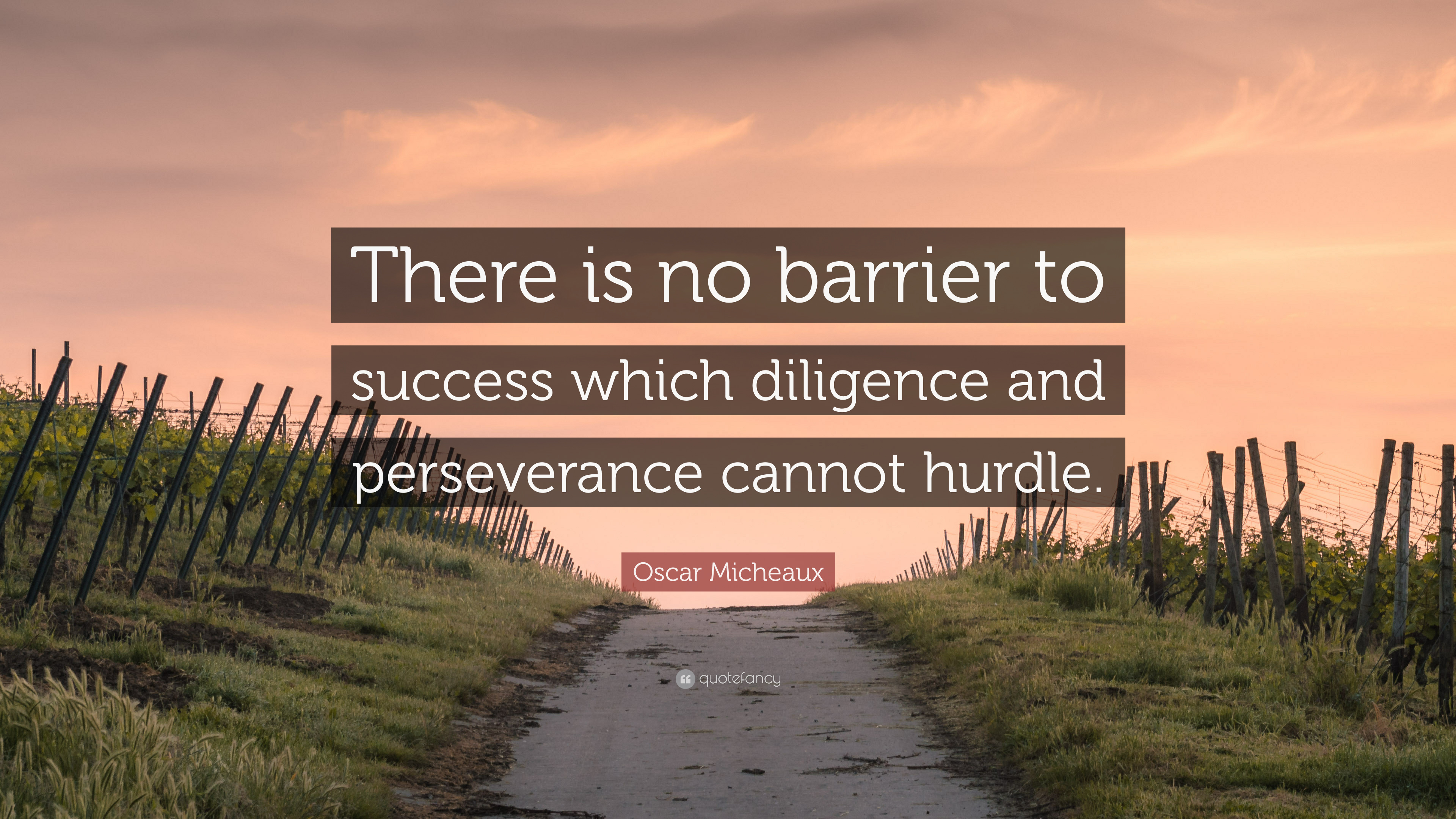 Diligence and perseverance