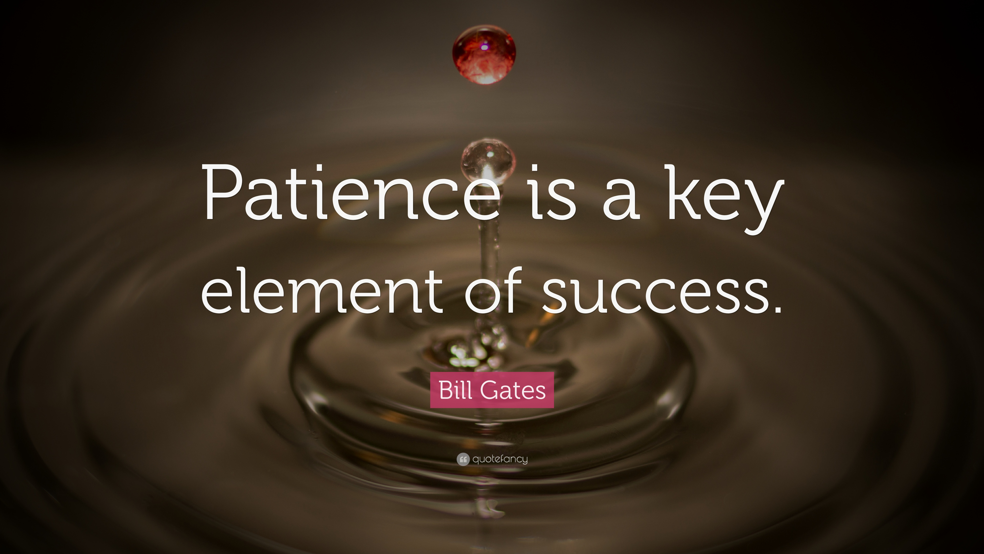 Bill Gates Quote Patience Is A Key Element Of Success 40