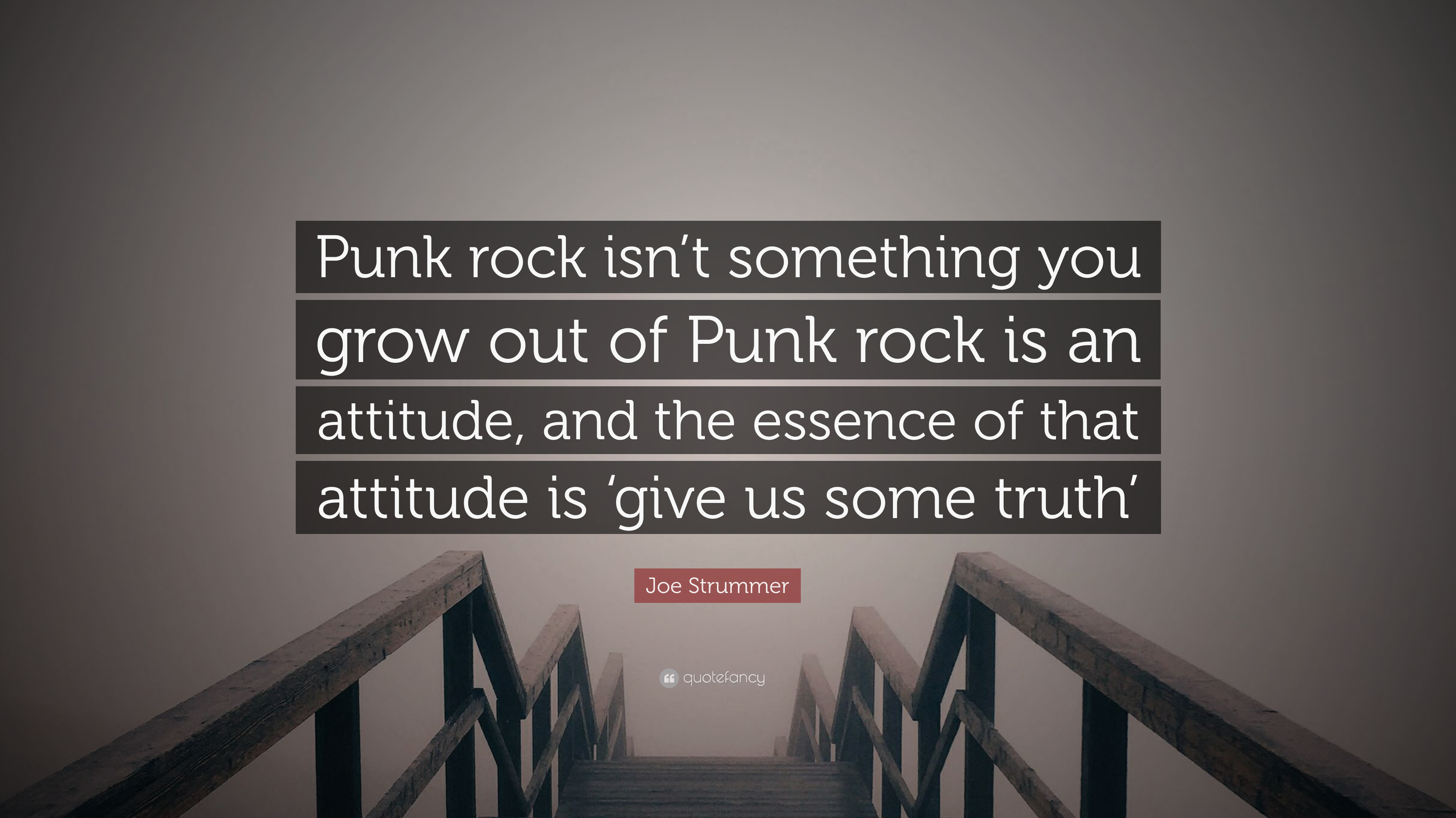 "Joe Strummer Quote: ""Punk rock isn\'t something you grow out ..."