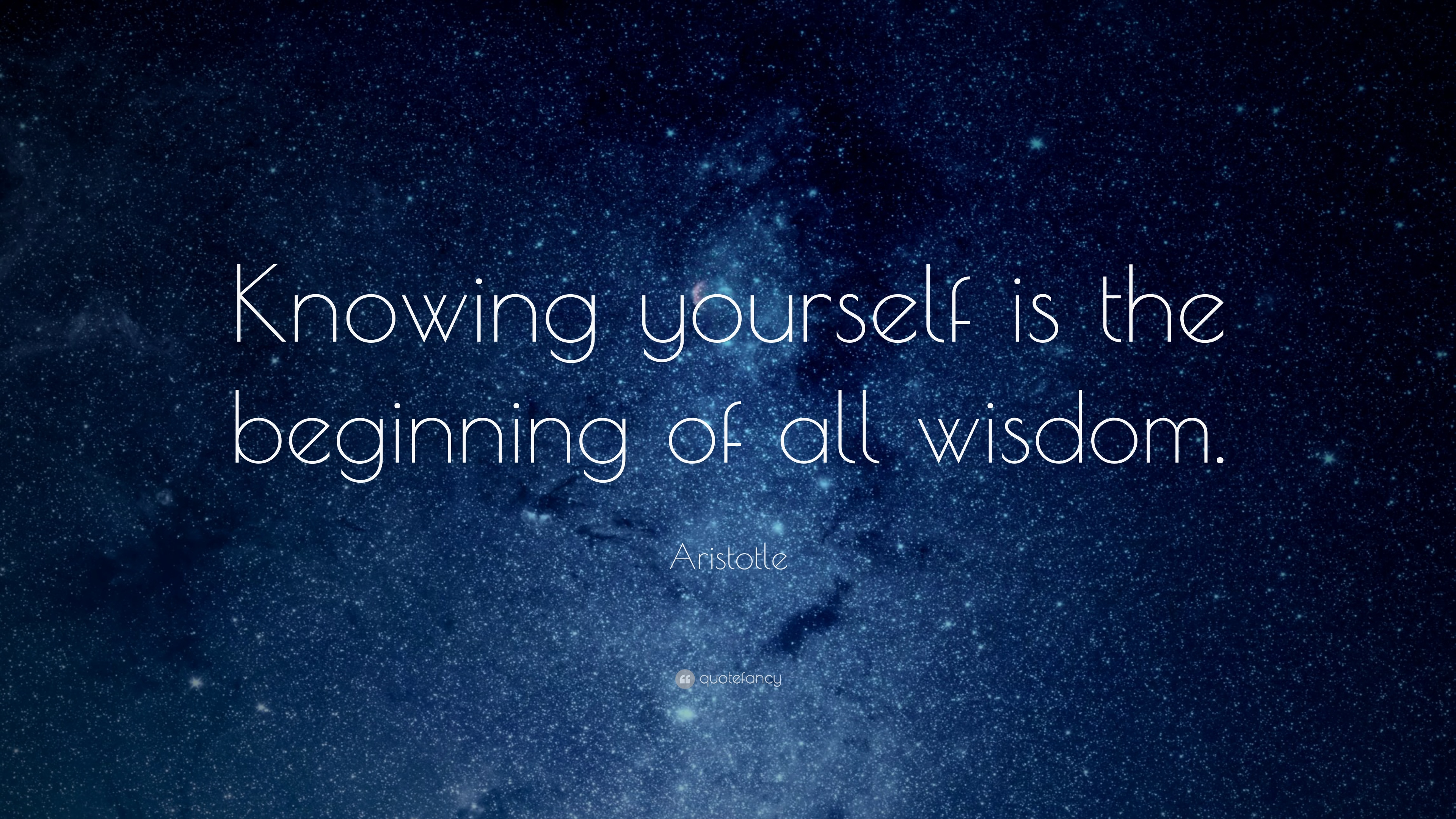 The Beginning All Wisdom Is Knowing Yourself Aristotle Quote Of