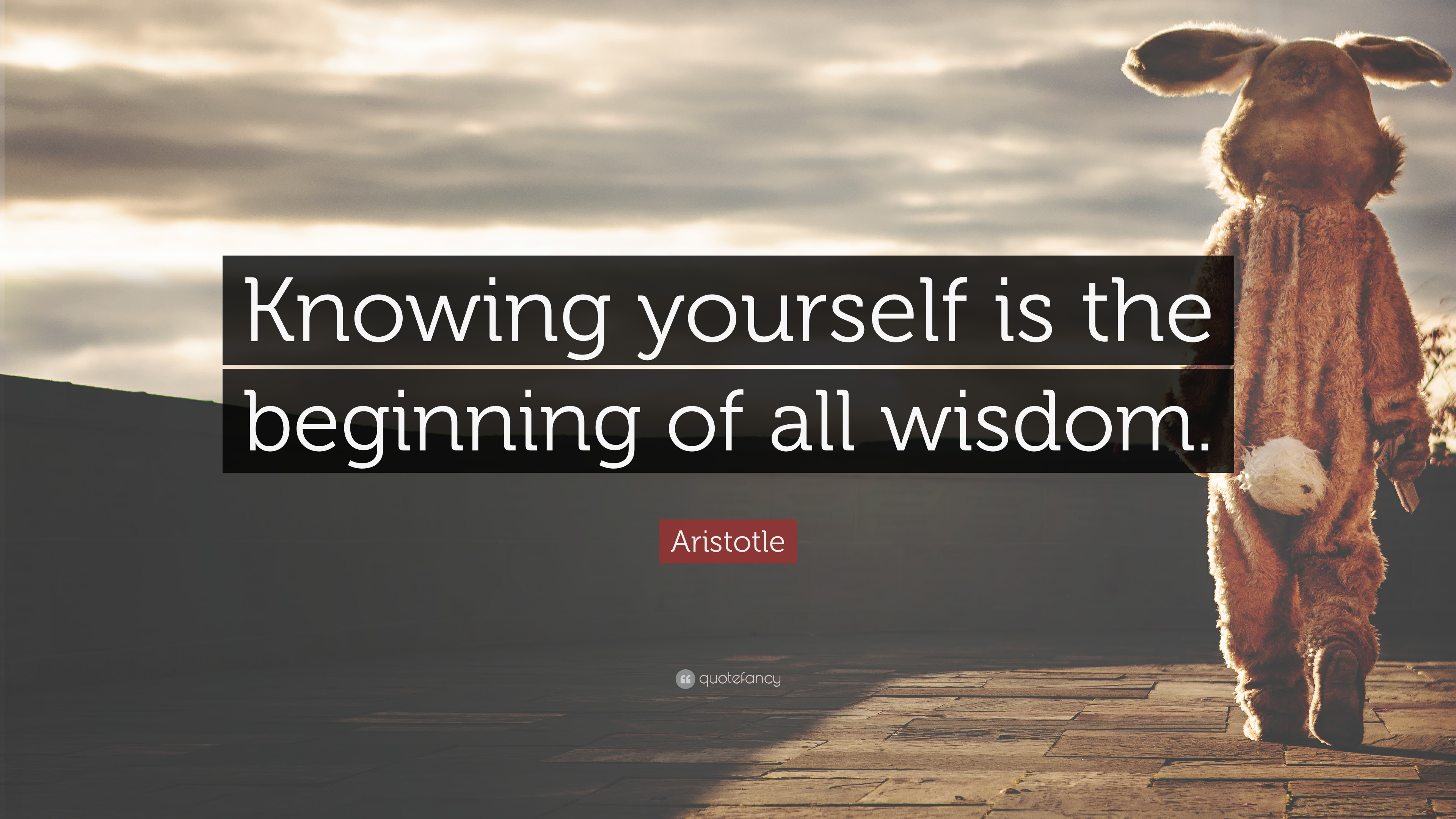 "Aristotle Quote About Wisdom: Aristotle Quote: ""Knowing Yourself Is The Beginning Of All"