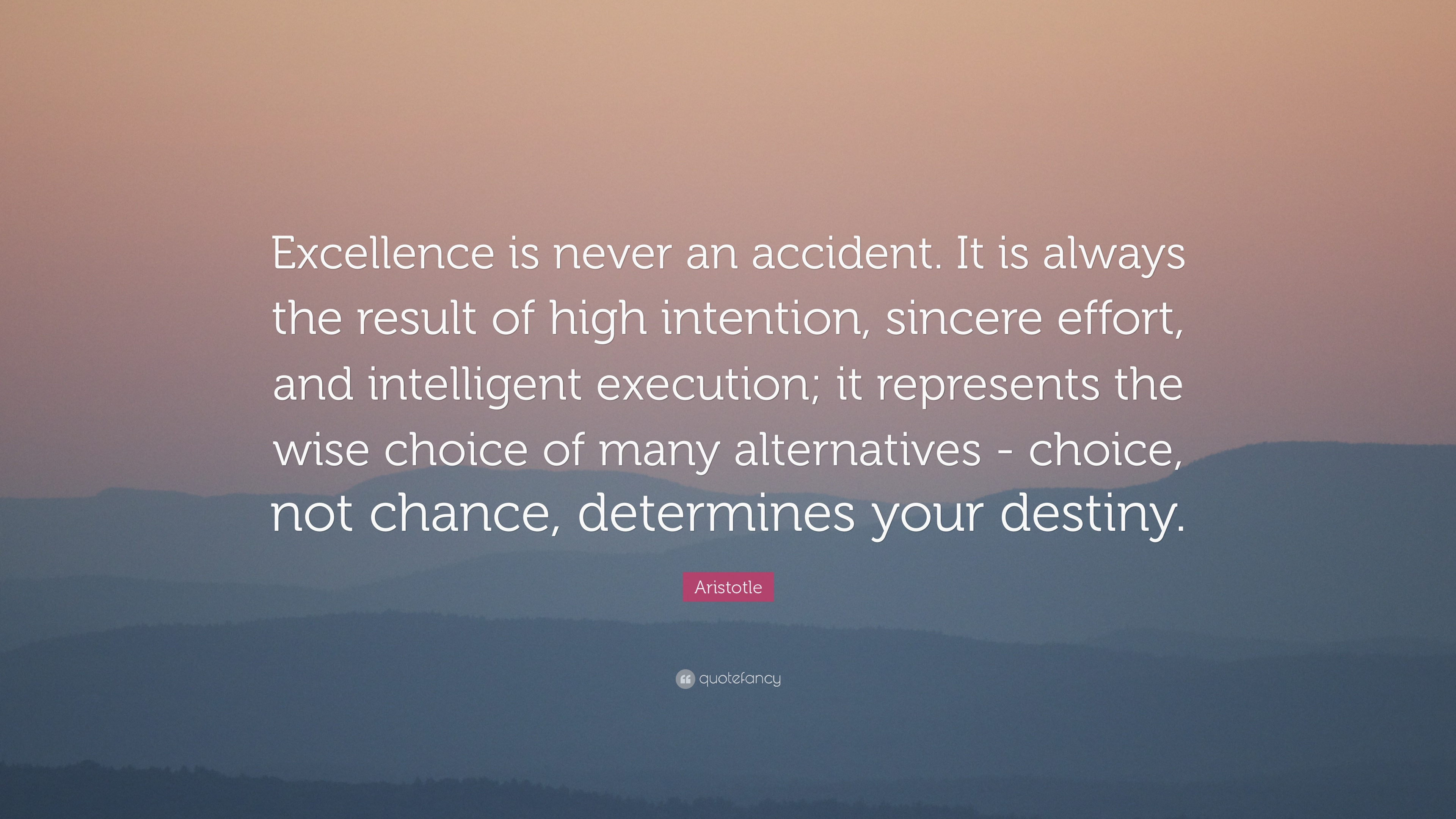 Aristotle Excellence Is Never Quotes