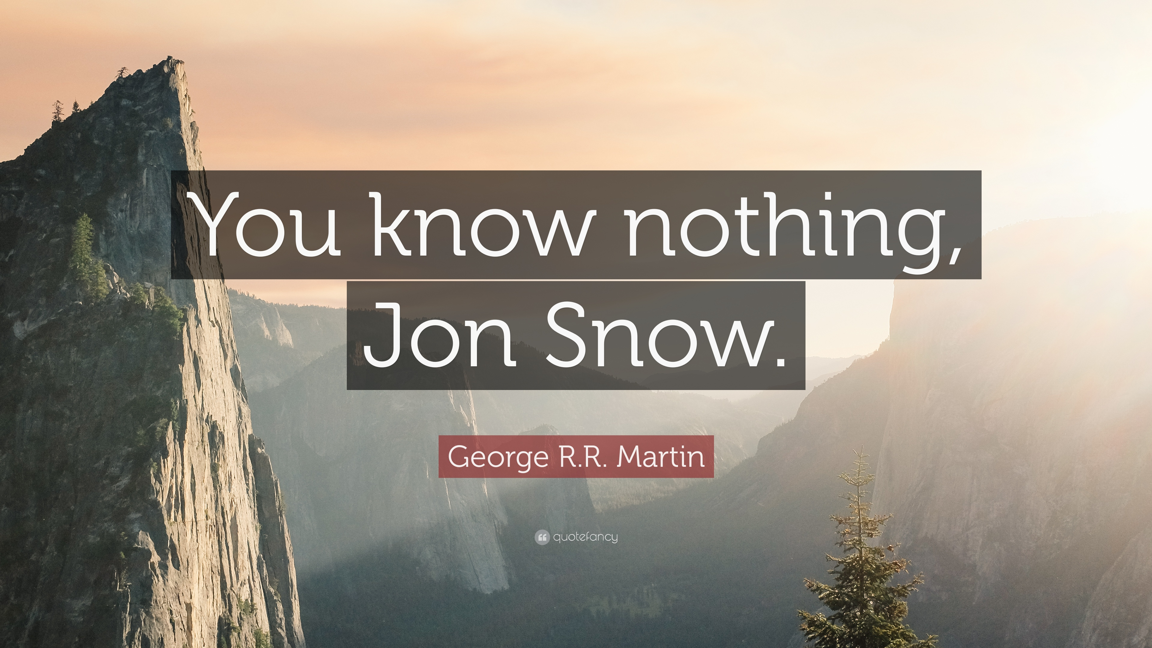 George RR Martin Quote You Know Nothing Jon Snow