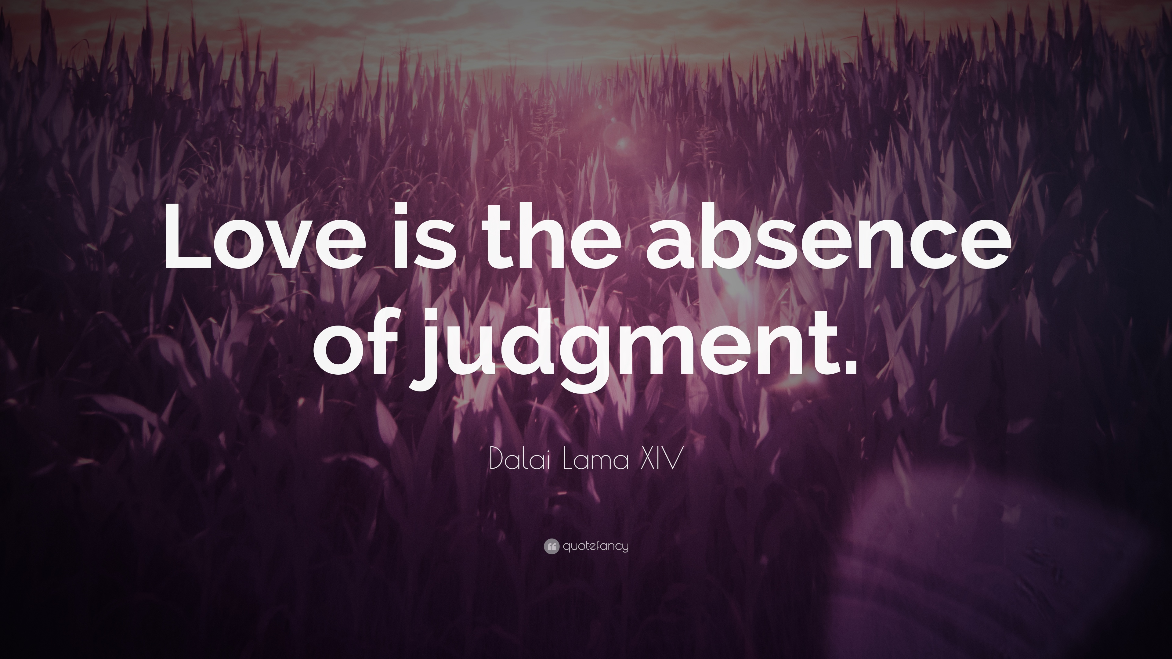 "Dalai Lama XIV Quote: ""Love Is The Absence Of Judgment"