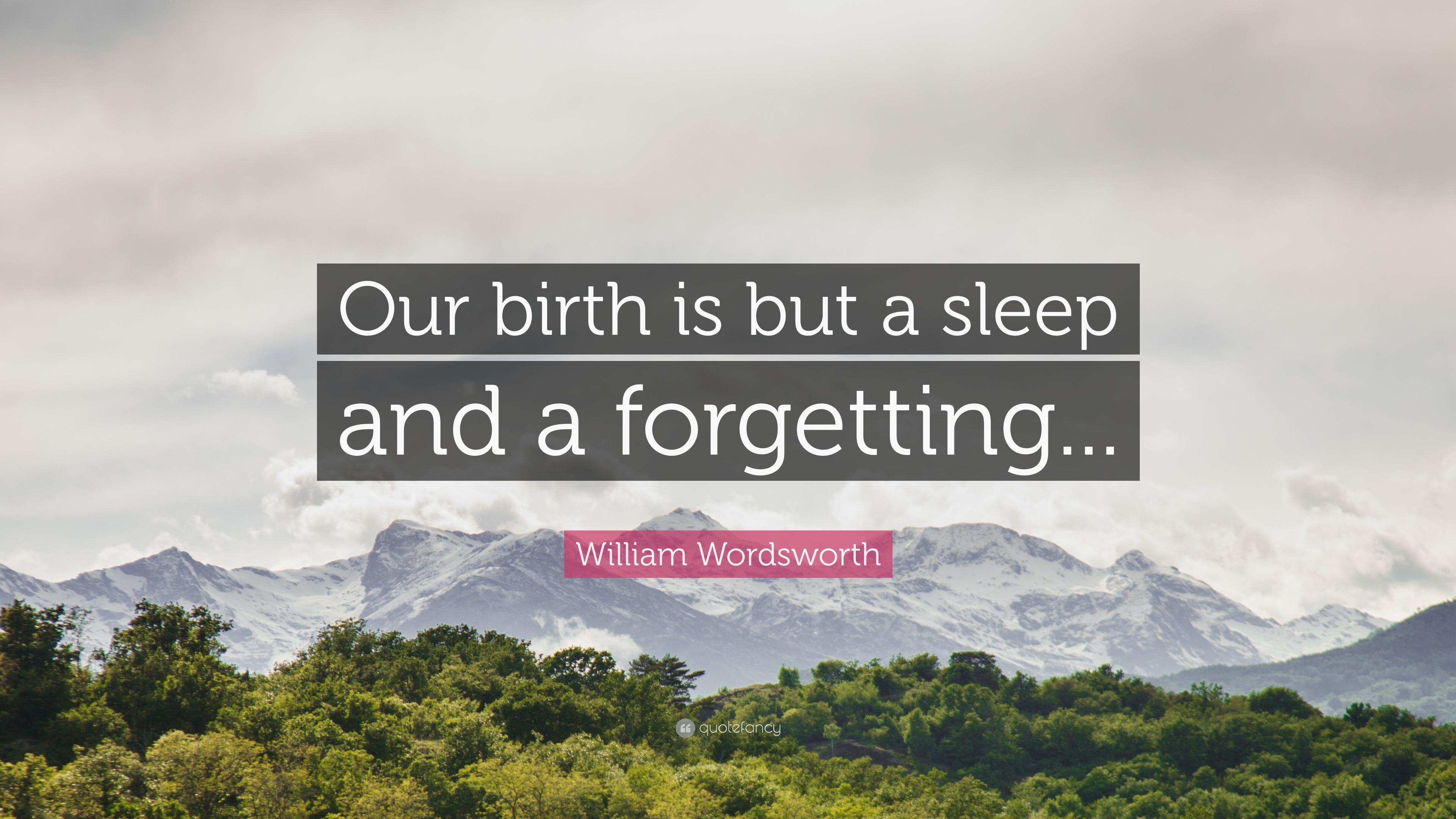 william wordsworth to sleep