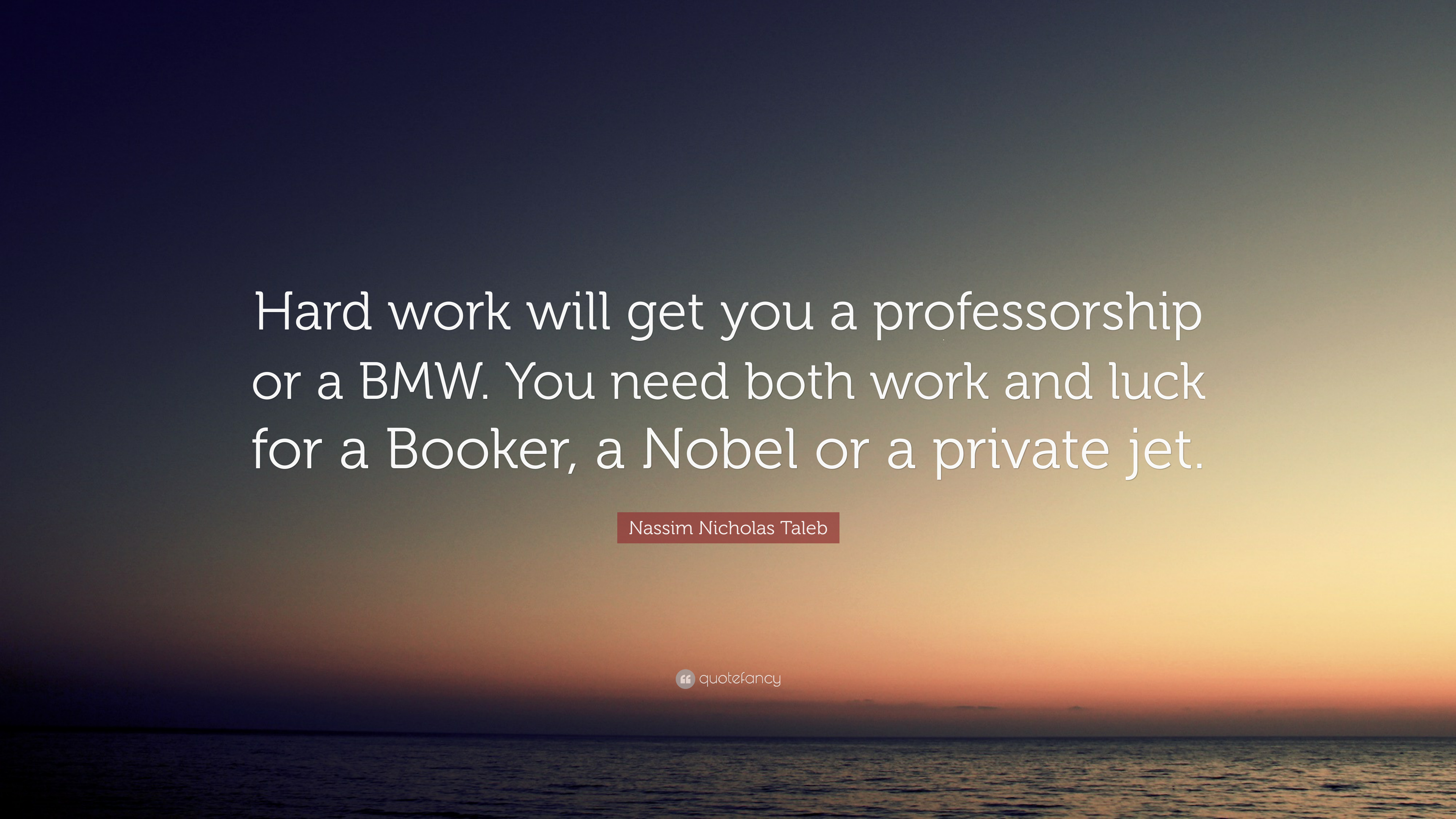 Quotes For Hard Work | Nassim Nicholas Taleb Quote Hard Work Will Get You A Professorship