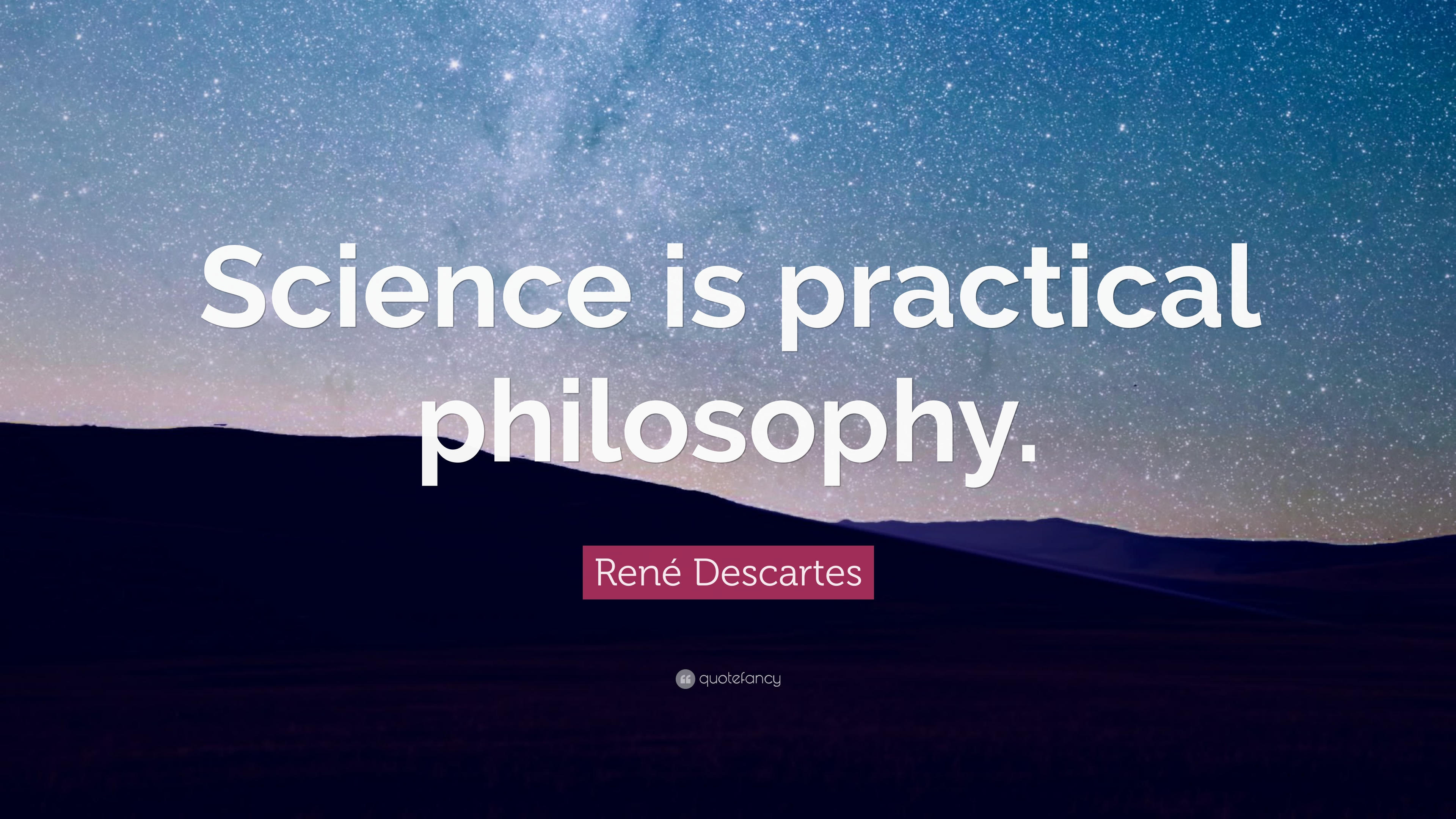 descartes essay philosophy rene science René descartes, who was interested in both science and philosophy, introduced his readers to the idea of separating academic knowledge from religious doctrine he claimed.