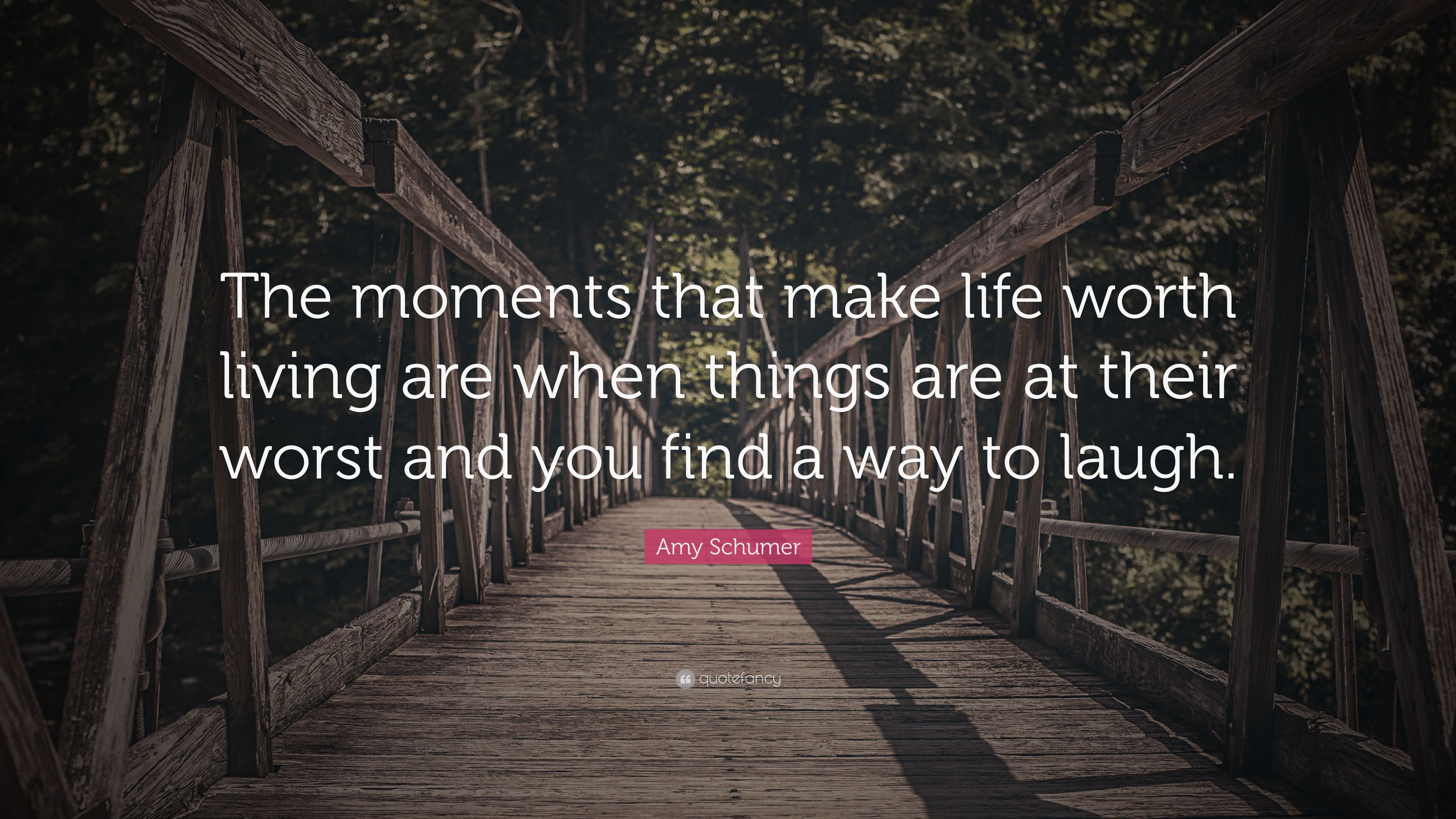 "Amy Schumer Quote: ""The Moments That Make Life Worth"