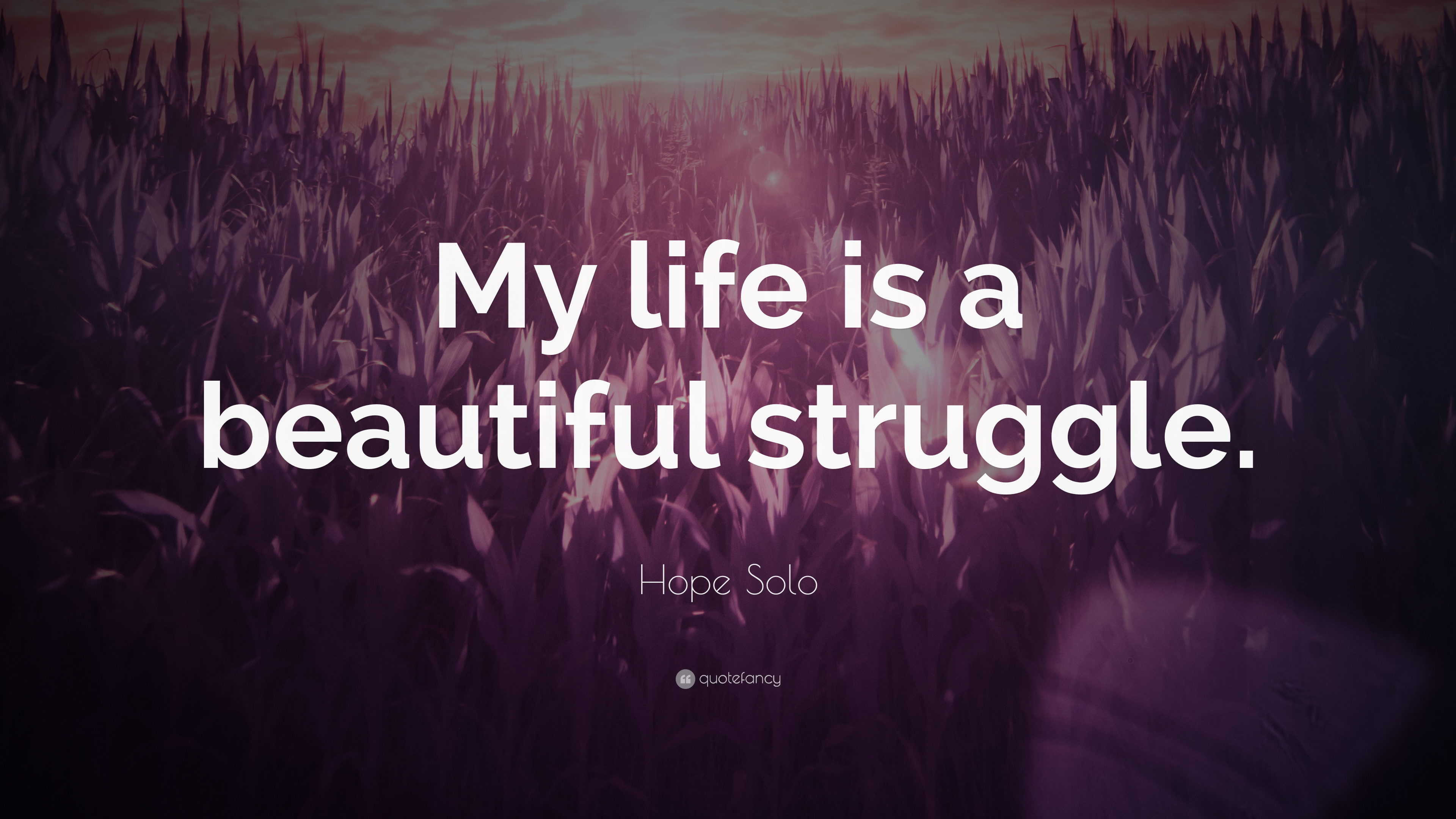 "Quotes About Life Struggles Hope Solo Quote ""My Life Is A Beautiful Struggle."" 7 Wallpapers"