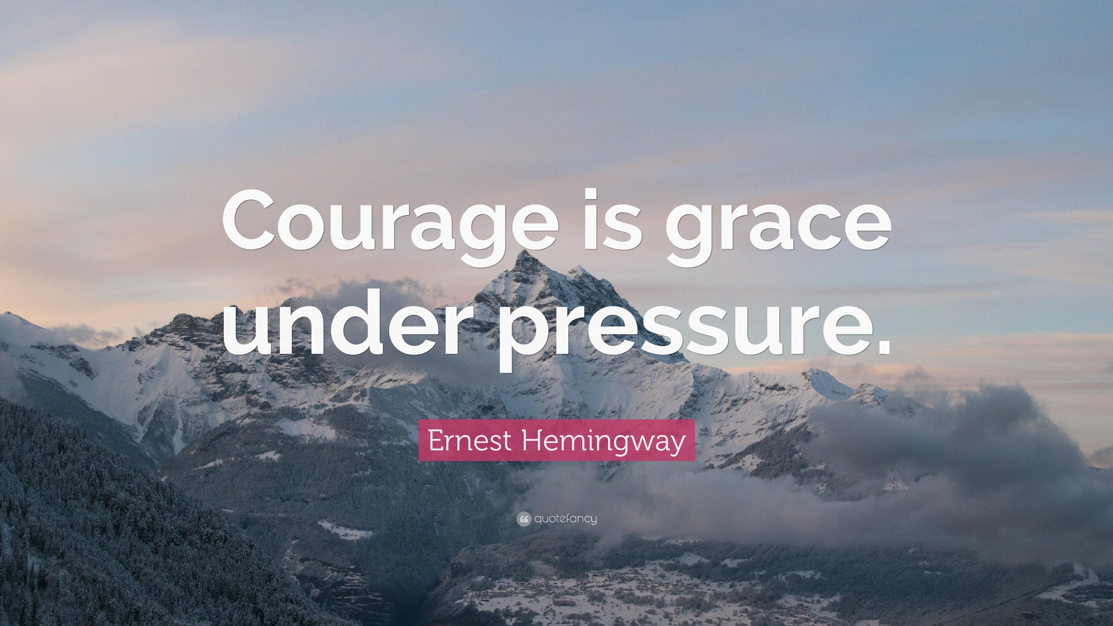 Grace under pressure hemingway