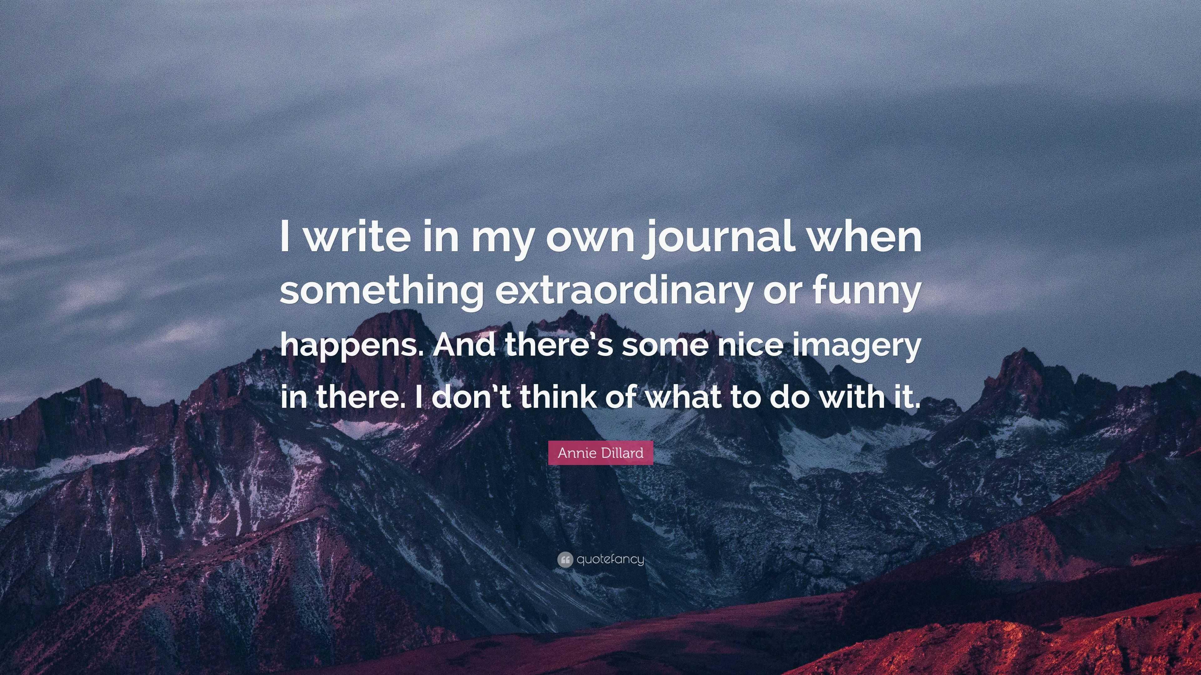 "Annie Dillard's ""Handed My Own Life"" Essay"