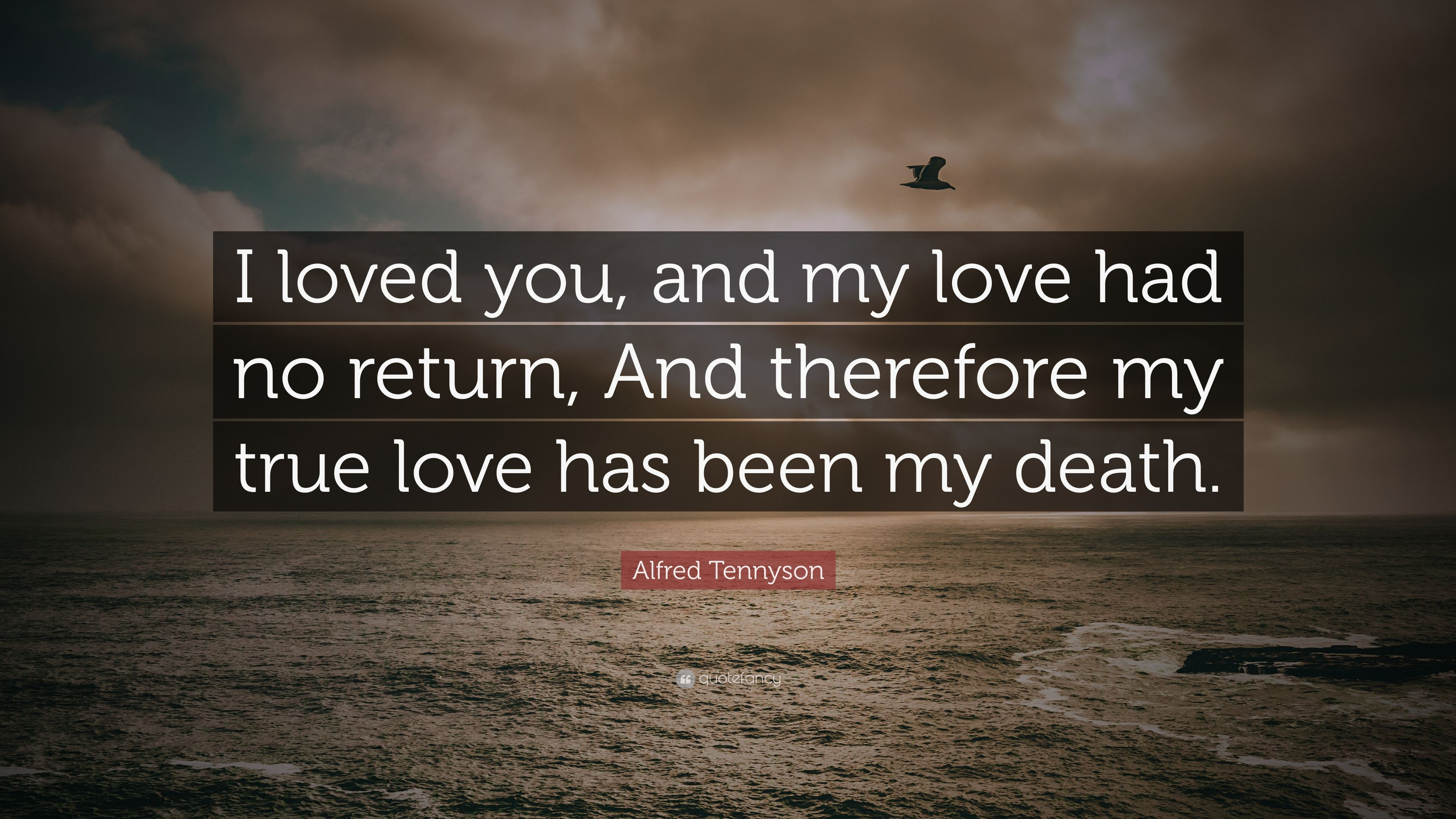 Alfred Tennyson Quote: U201cI Loved You, And My Love Had No Return,