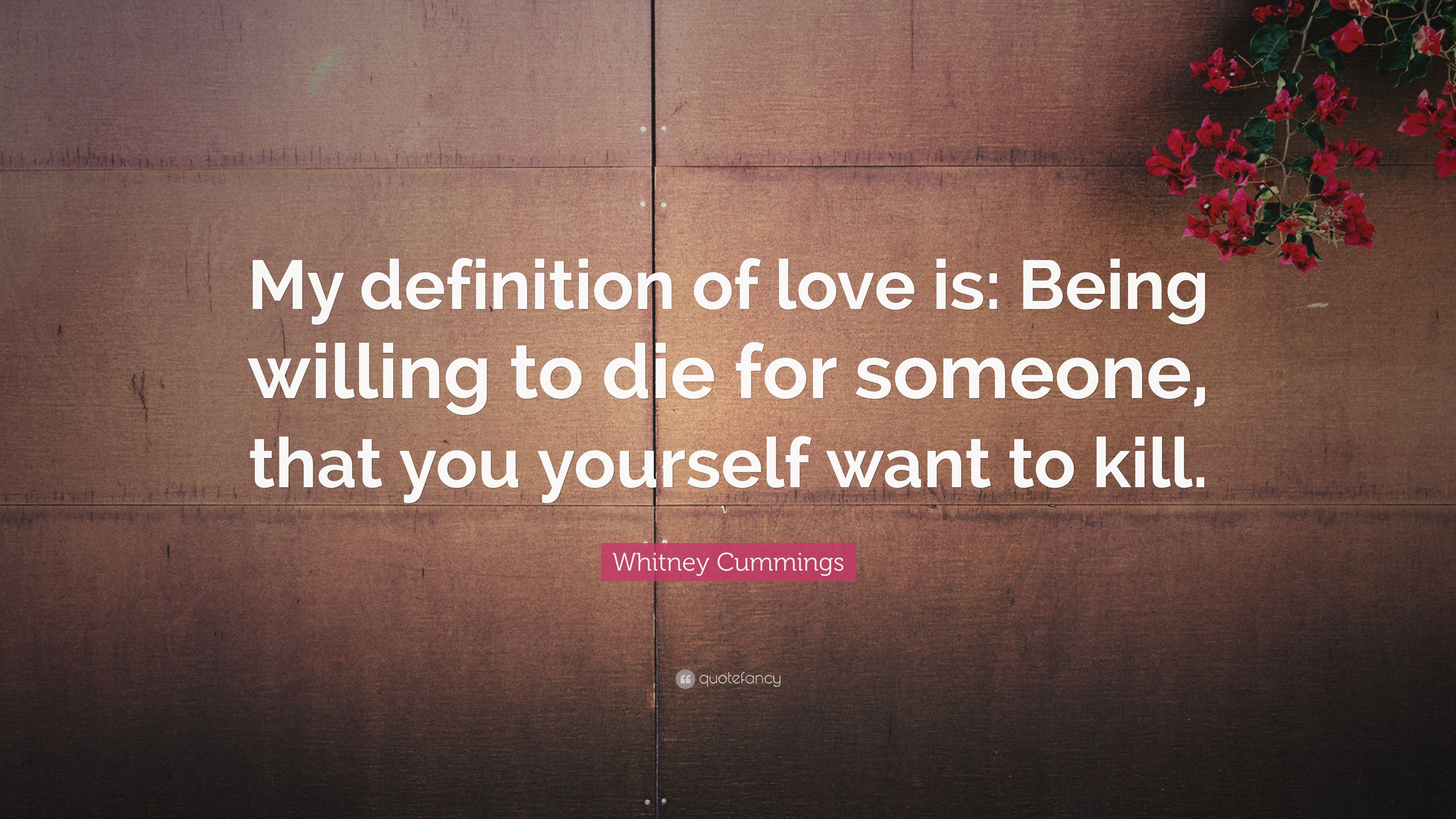 """Definition Of Love Quotes Whitney Cummings Quote """"My Definition Of Love Is Being Willing"""