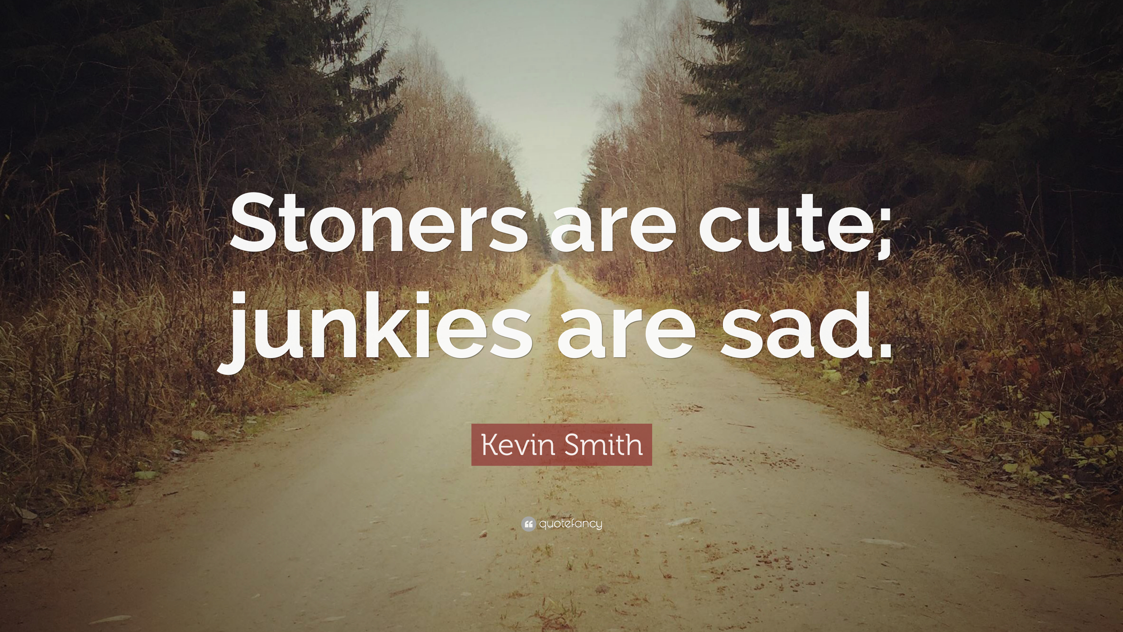 "Kevin Smith Quote: ""Stoners are cute; junkies are sad."" (10 ..."