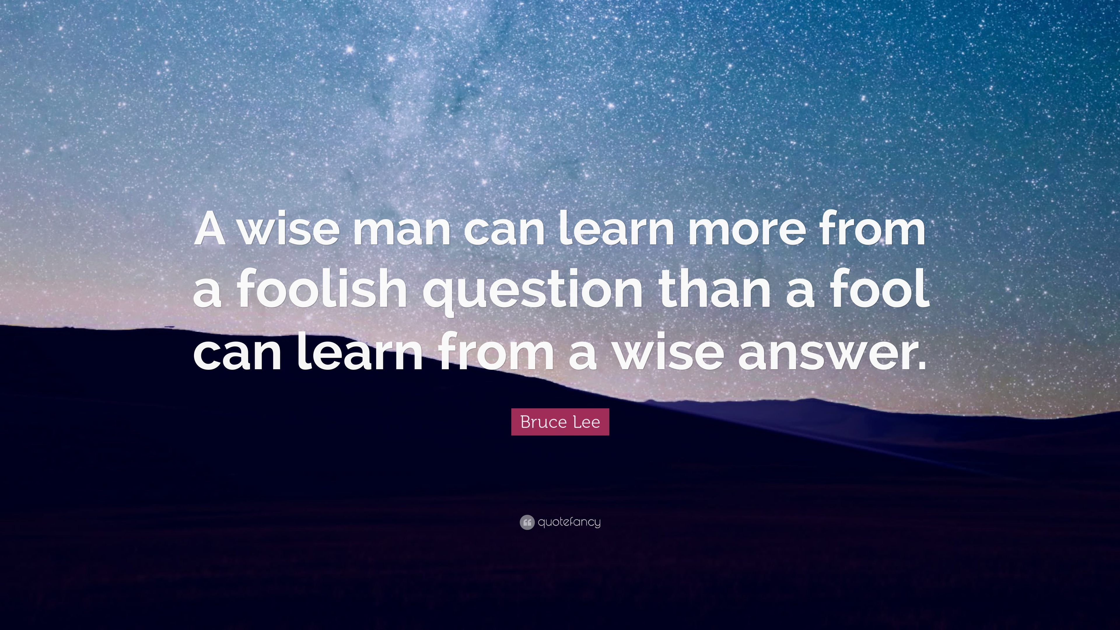 Did Bruce Lee say: 'A wise man can learn more from a ...