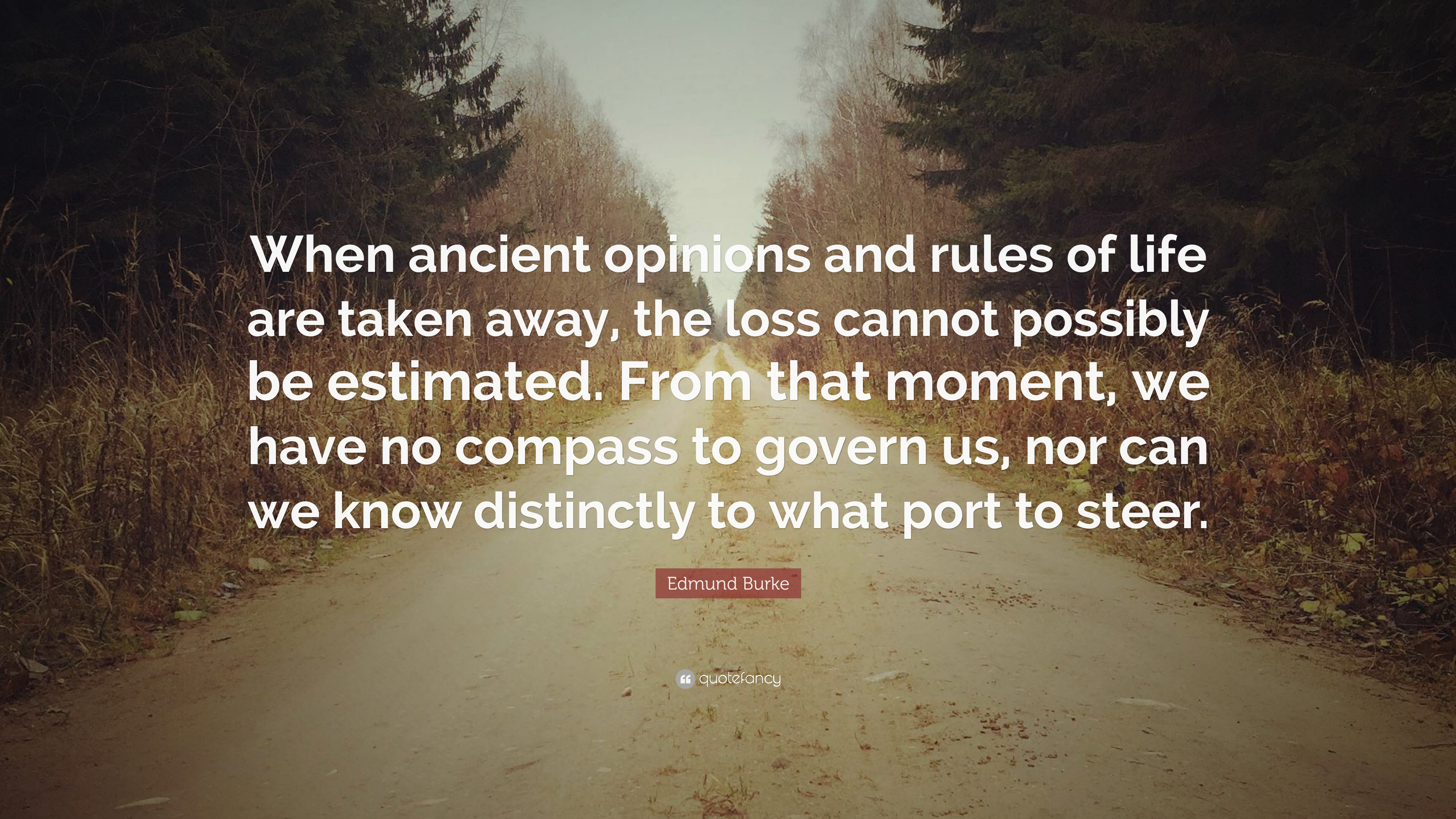 """Edmund Burke Quote: """"When Ancient Opinions And Rules Of"""