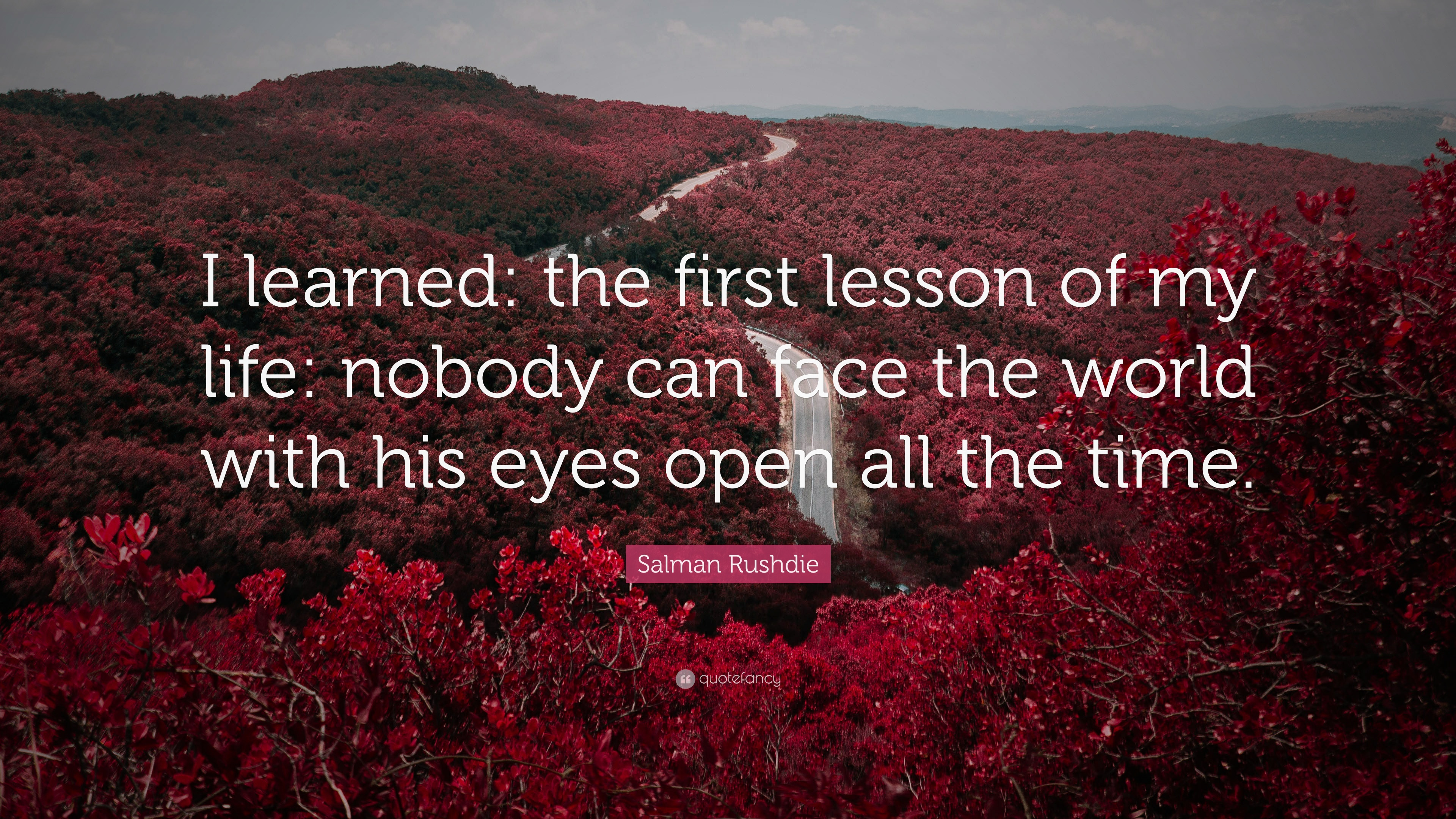 """Lesson In Life Quote Salman Rushdie Quote """"I Learned The First Lesson Of My Life"""
