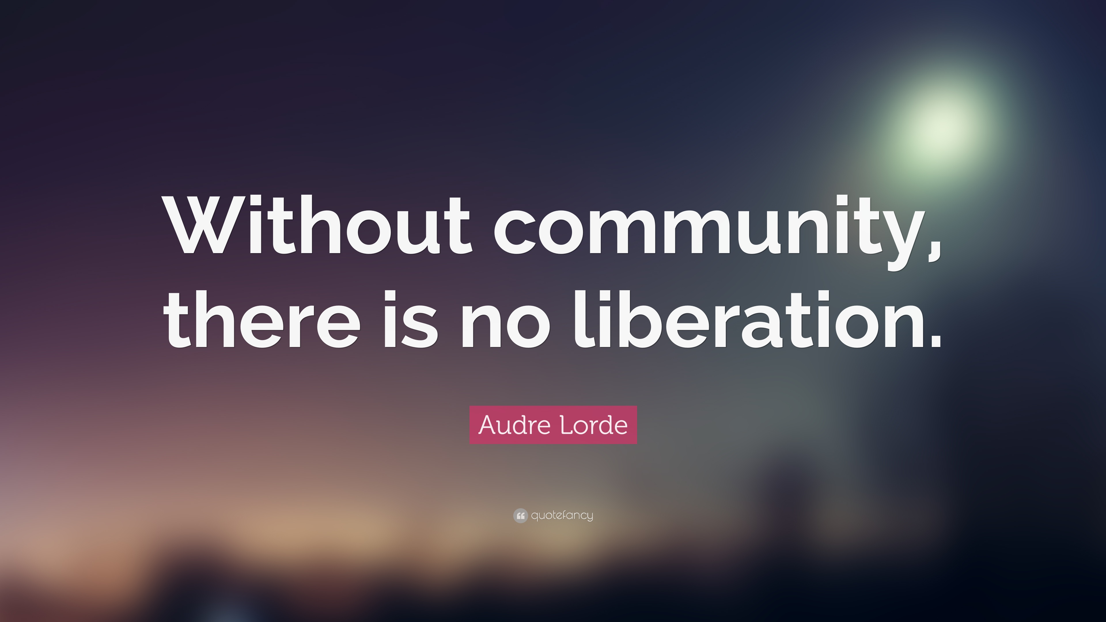 """Quotes About Community Audre Lorde Quote """"Without Community There Is No Liberation"""