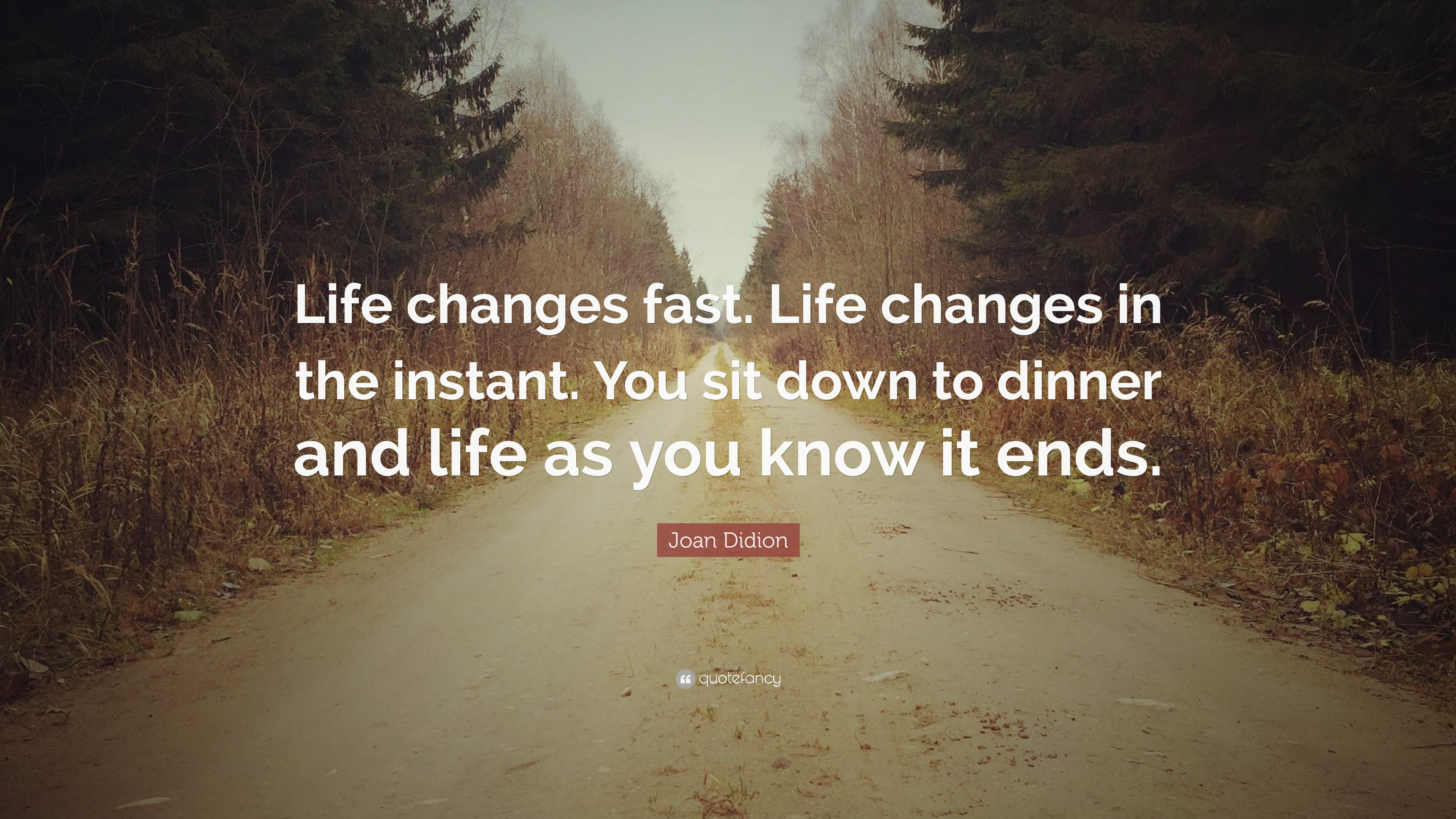 Joan Didion Quote Life Changes Fast Life Changes In The Instant