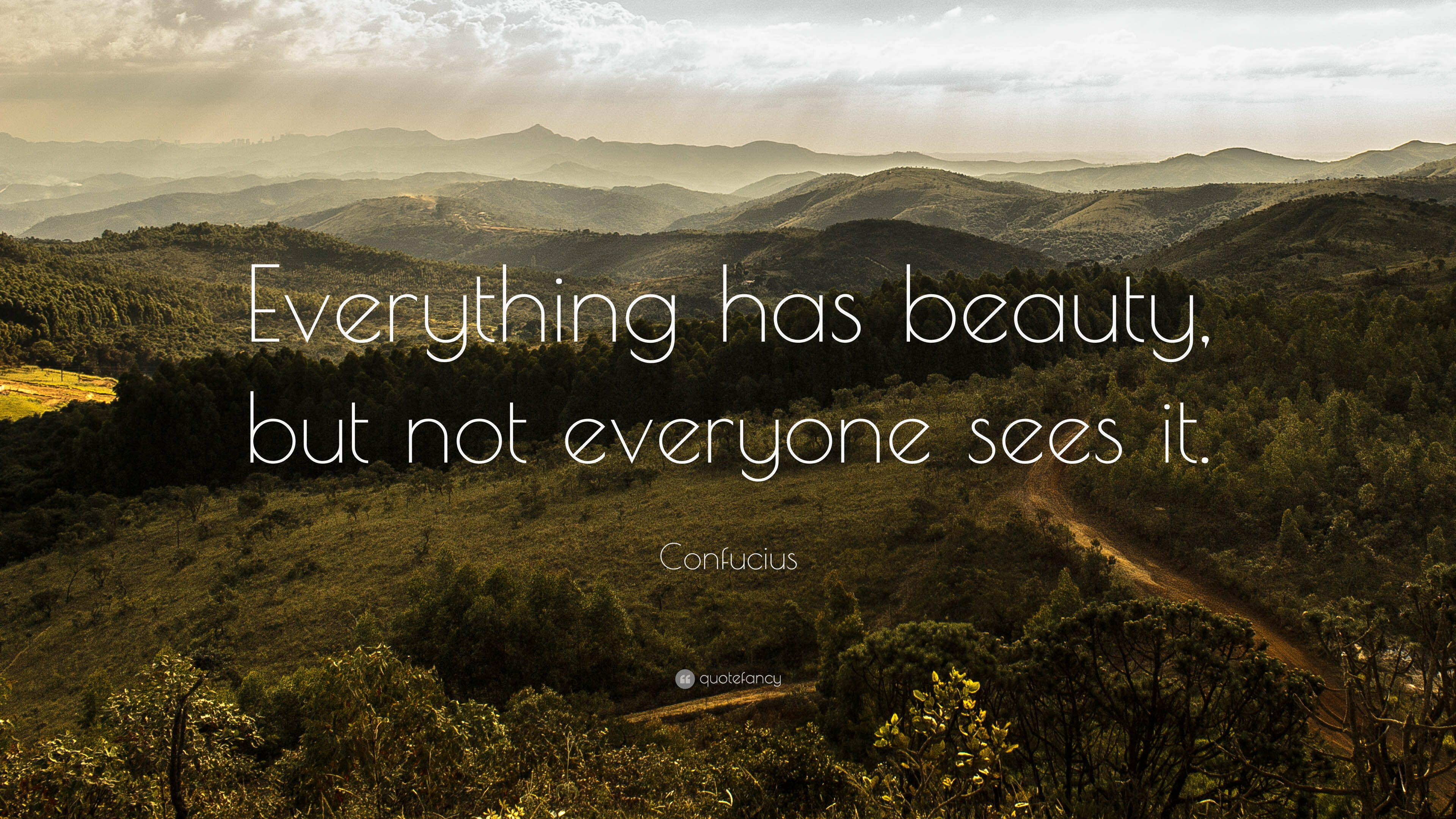 Confucius Quote Everything Has Beauty But Not Everyone Sees It